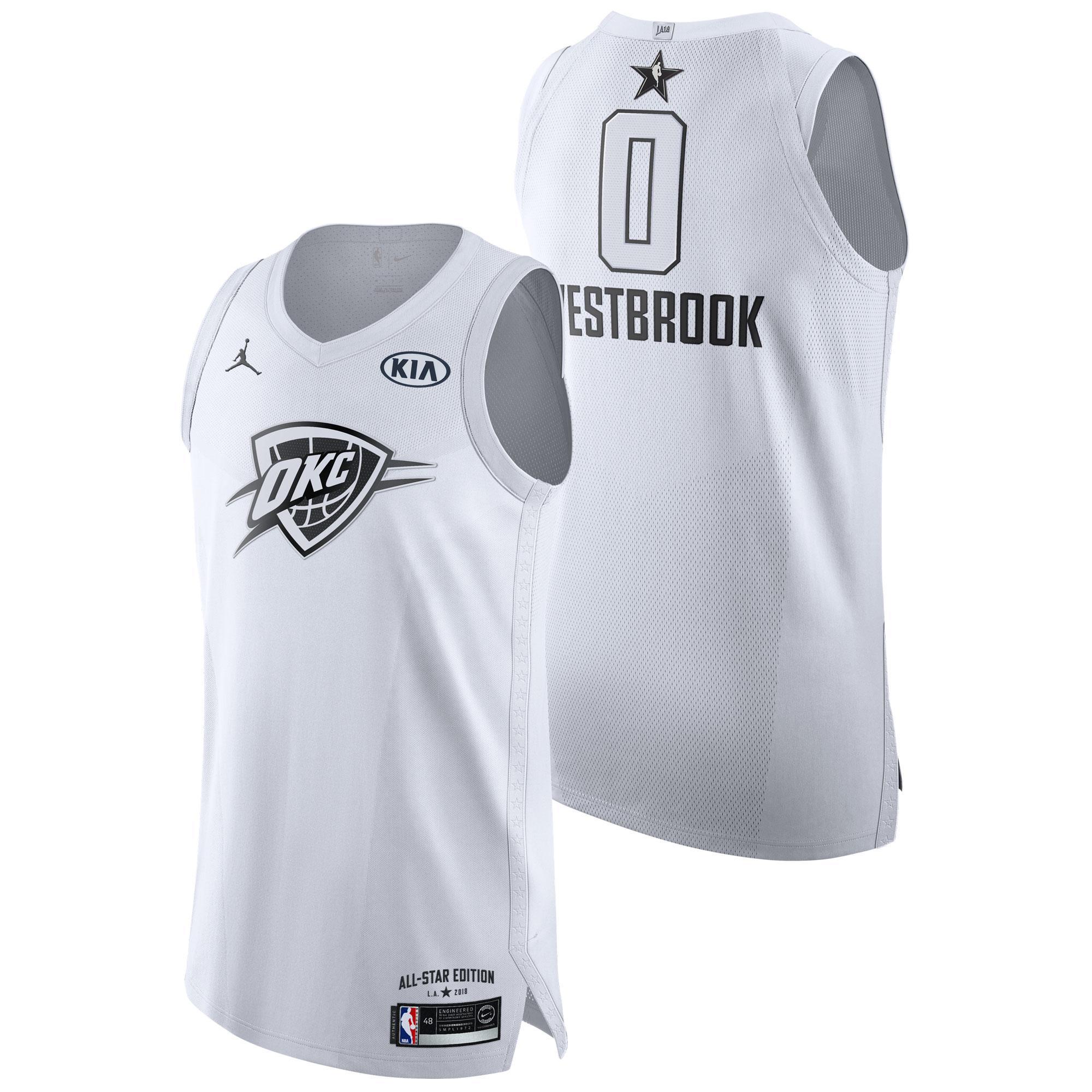 Camiseta NBA All-Star 2018 Jordan Blanco Authentic - Russell Westbrook - Hombre