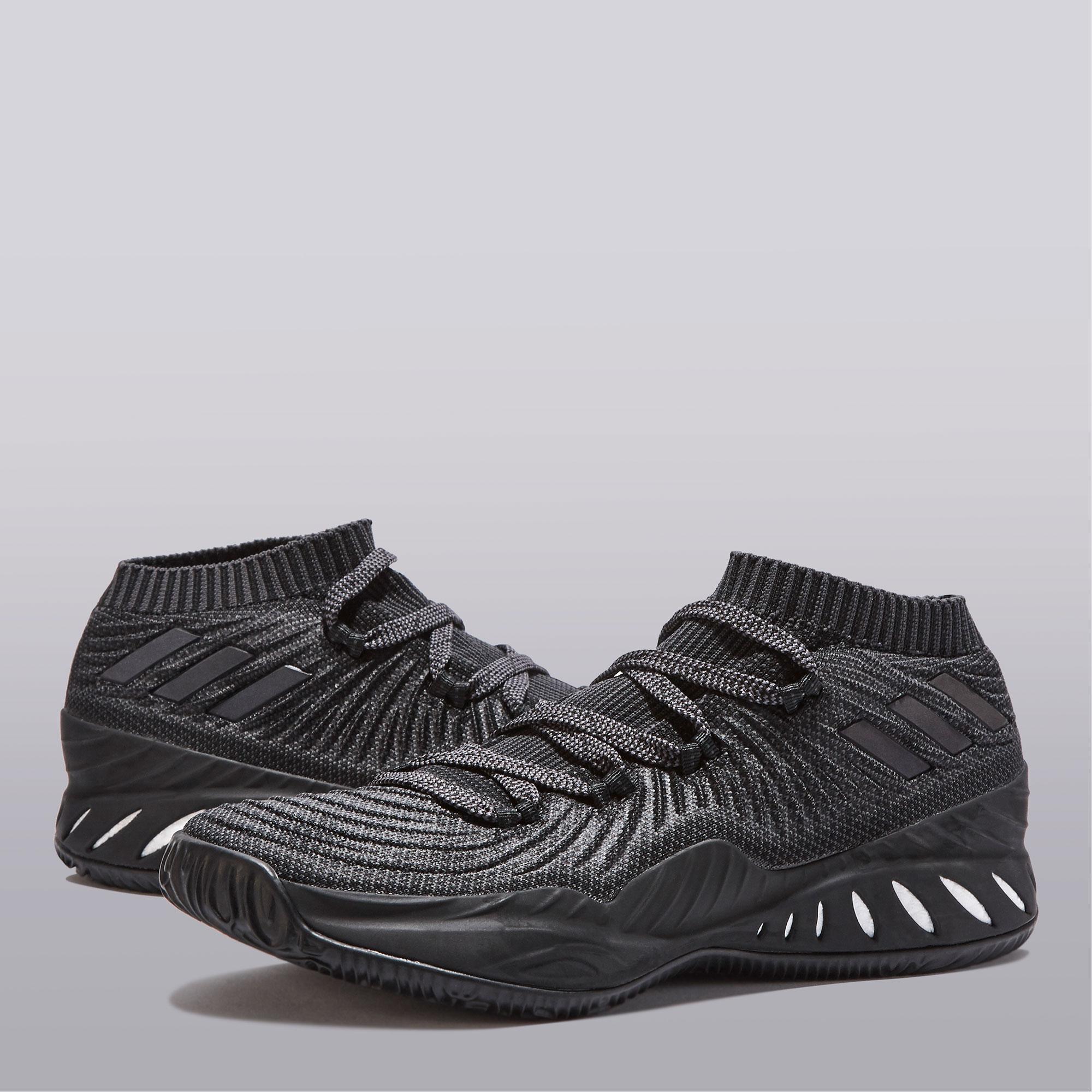"Image of ""adidas Crazy Explosive Low Primeknit 2017 Basketball Shoe - Triple Black"""