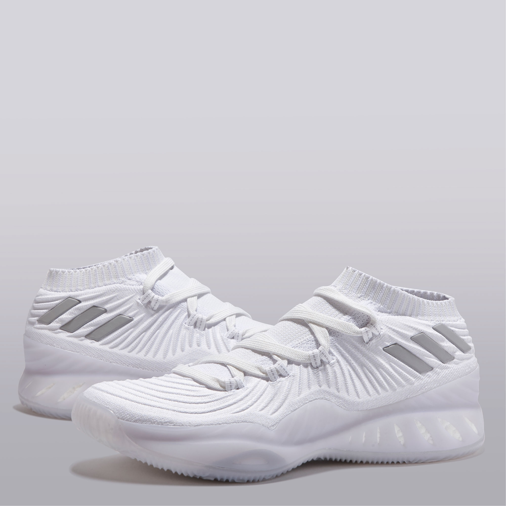 "Image of ""adidas Crazy Explosive Low Primeknit 2017 Basketball Shoe - Triple White"""