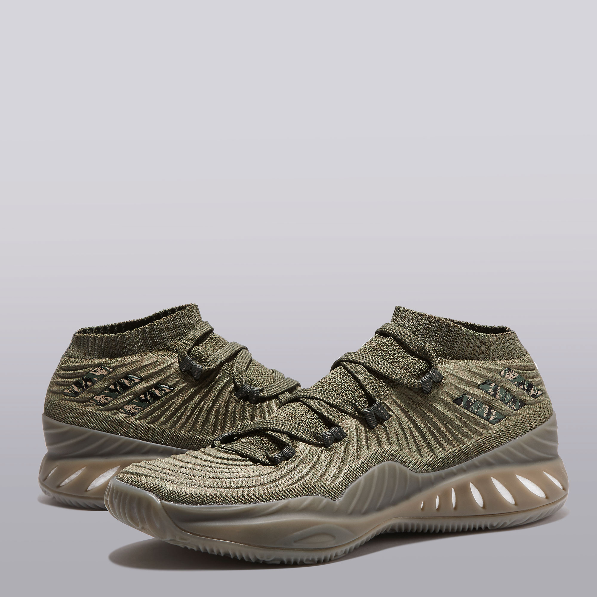 "Image of ""adidas Crazy Explosive Low Primeknit 2017 Basketball Shoe - Trace Cargo"""