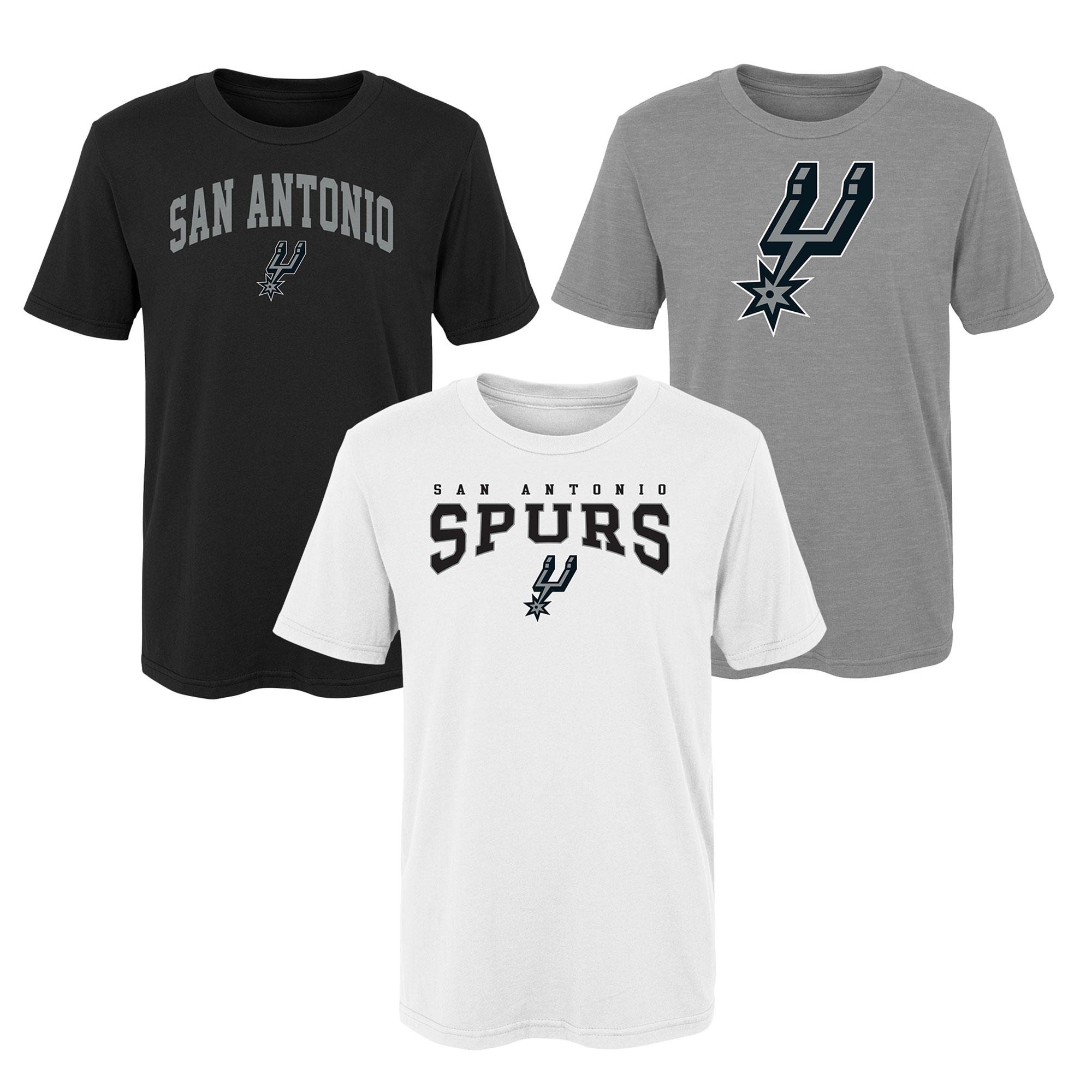 Pack de 3 camisetas con logotipo San Antonio Spurs - Niños
