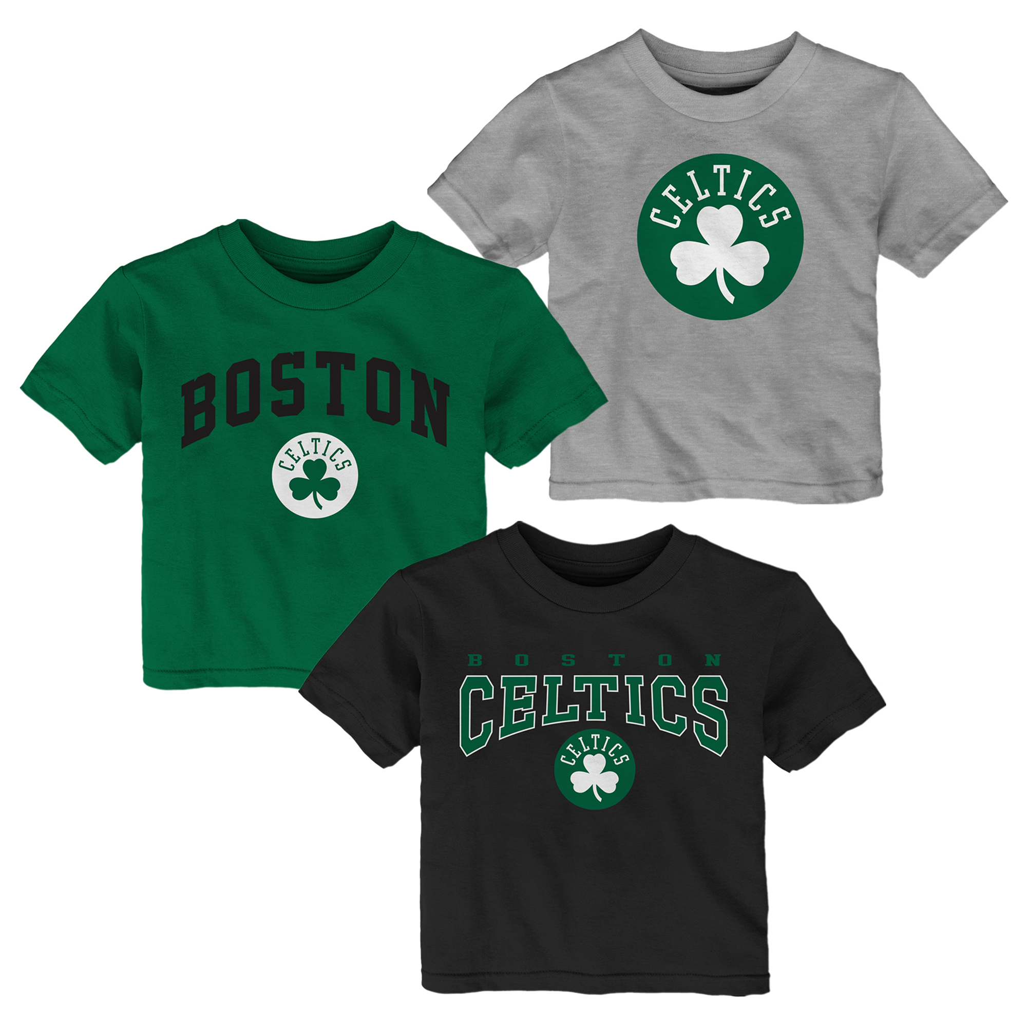 "Image of ""Boston Celtics 3 Pack Team Logo T-Shirt - Infant"""