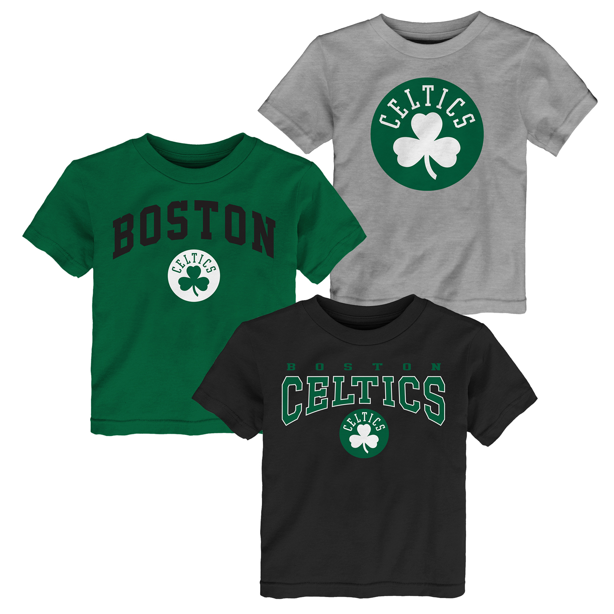 "Image of ""Boston Celtics 3 Pack Team Logo T-Shirt- Toddler"""