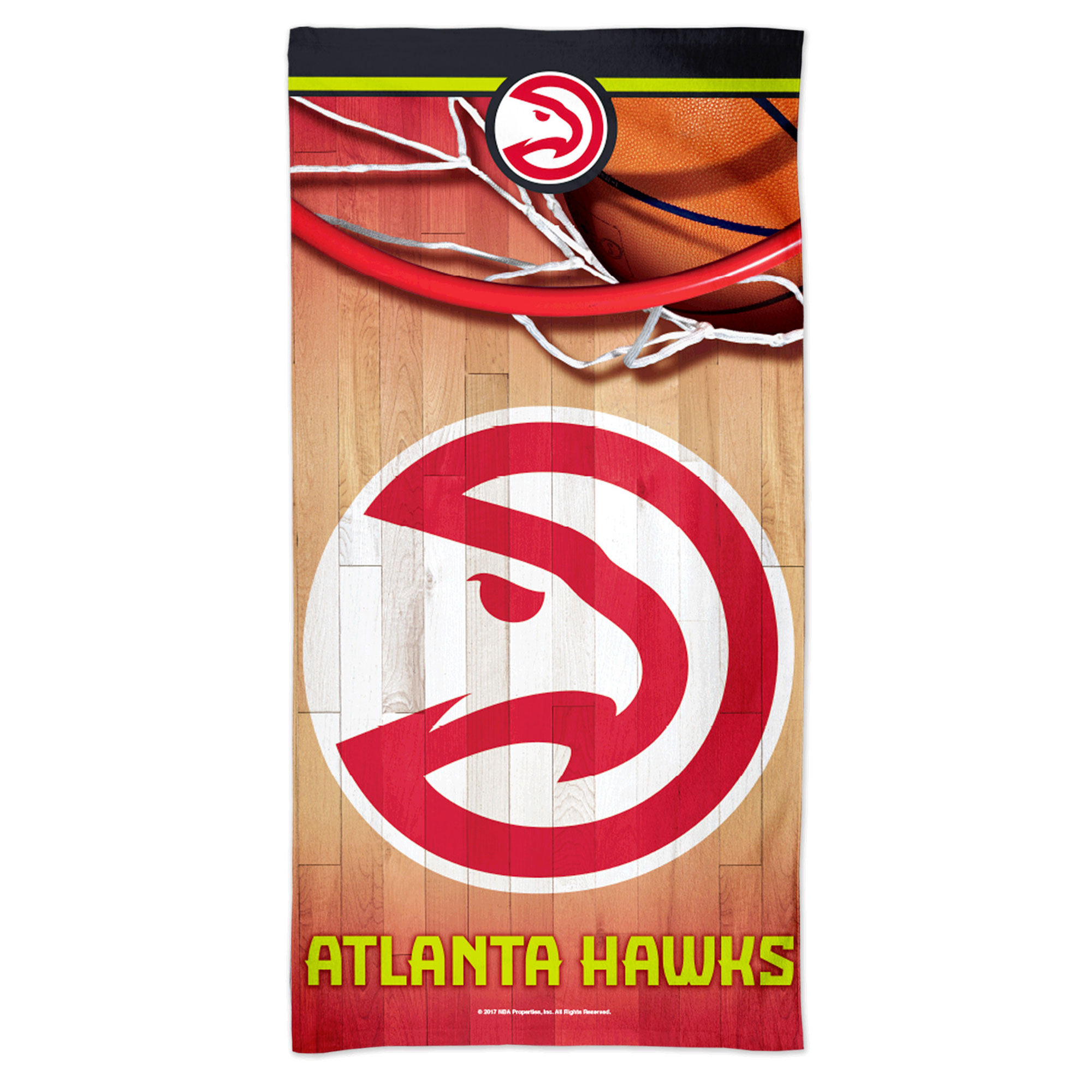 "Image of ""Atlanta Hawks NBA Full Size Beach Towel"""