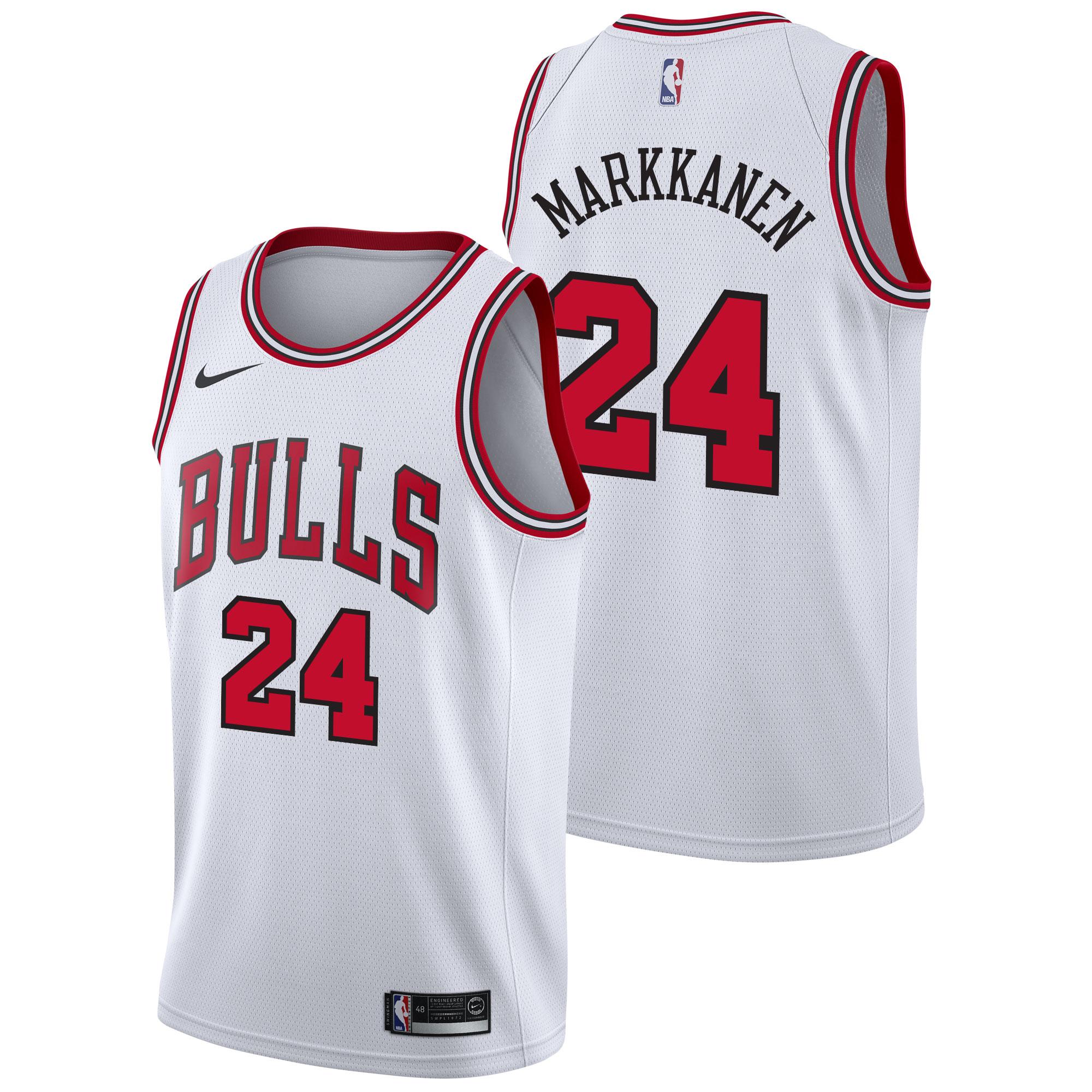 Chicago Bulls Nike Association Swingman Camiseta de la NBA - Lauri Markkanen - Hombre
