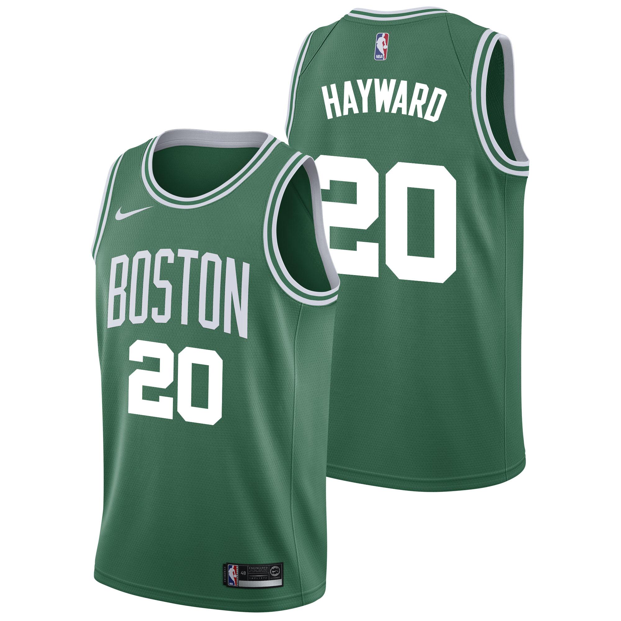 """Boston Celtics Nike Icon Swingman Jersey - Gordon Hayward - Mens"""