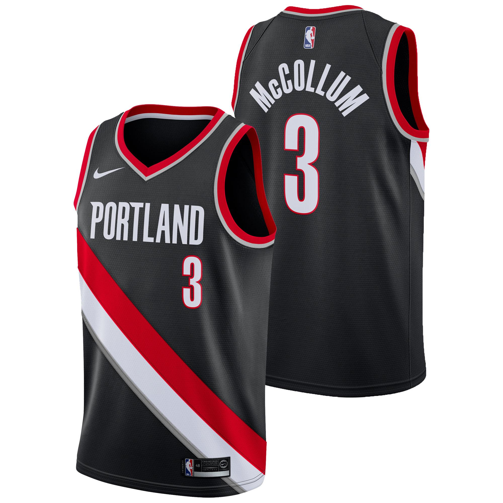 Portland Trail Blazers Nike Icon Swingman Camiseta de la NBA - CJ McCollum - Hombre