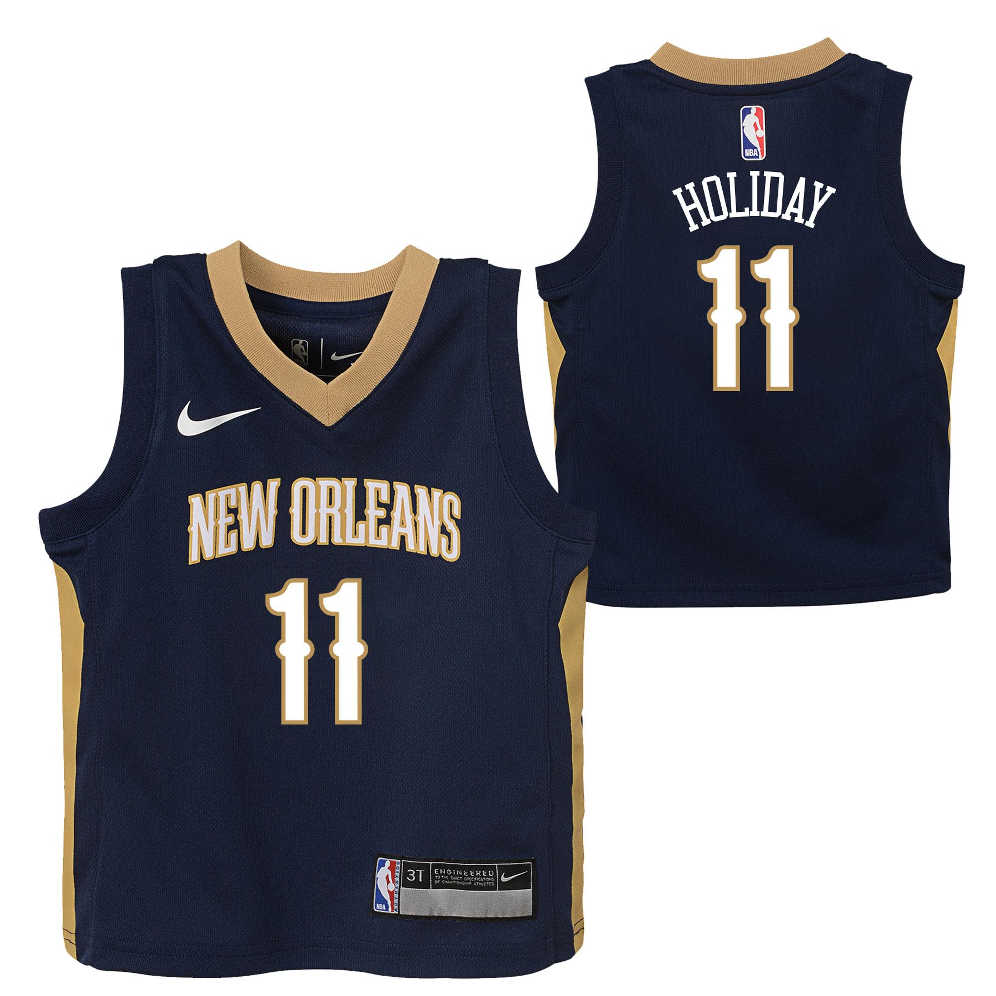 New Orleans Pelicans Nike Icon Replica Camiseta de la NBA - Jrue Holiday - Niños pequeños