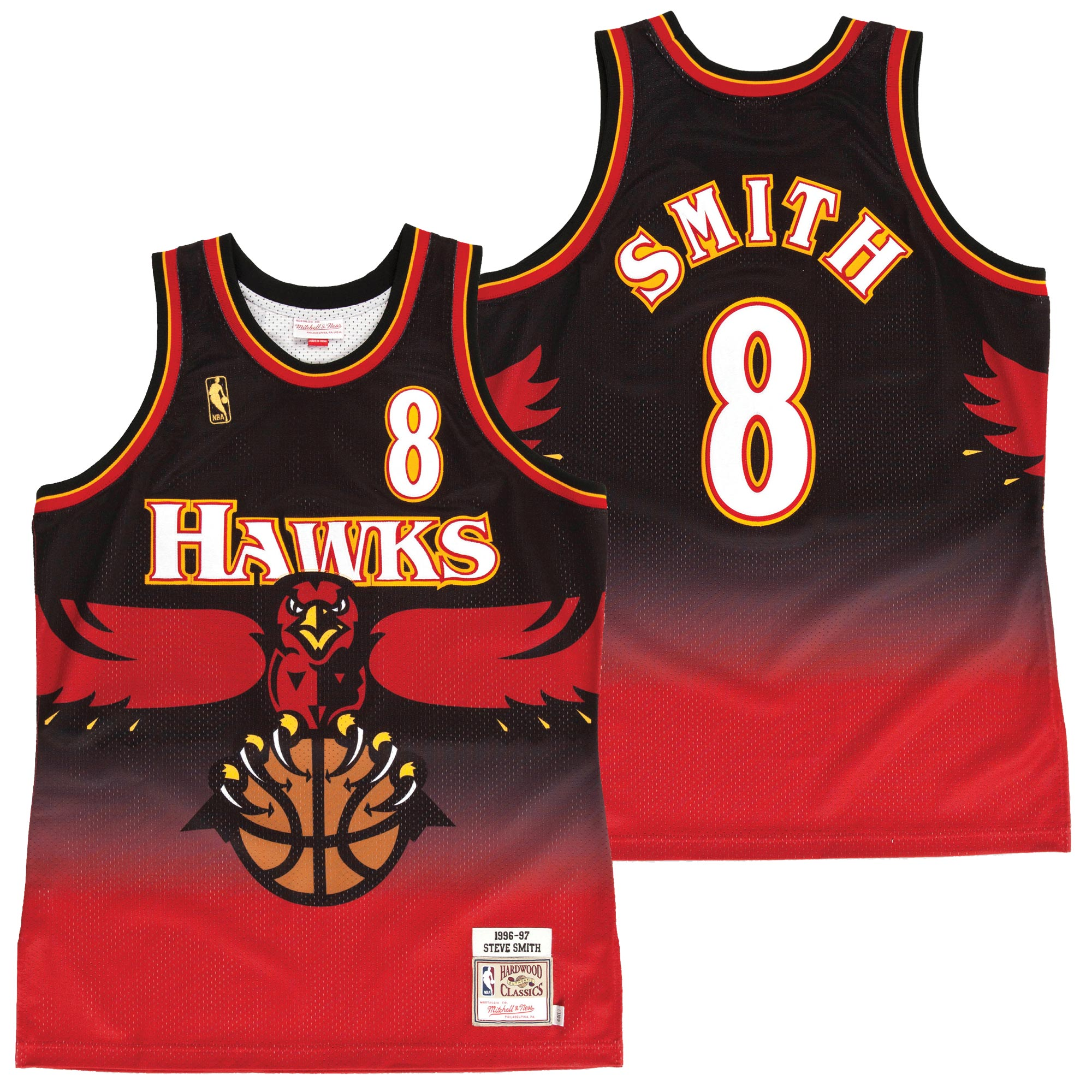"Image of ""Atlanta Hawks Steve Smith 1996-97 Authentic Road Jersey By Mitchell & Ness - Mens"""
