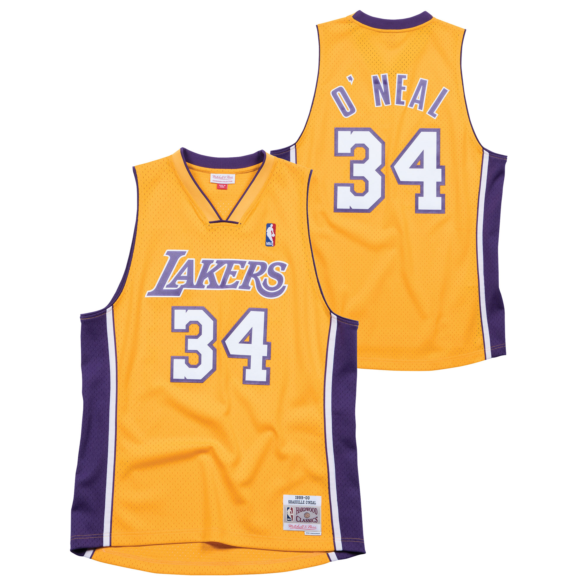 """Los Angeles Lakers Shaquille ONeal Hardwood Classics Home Swingman Jersey - Mens"""