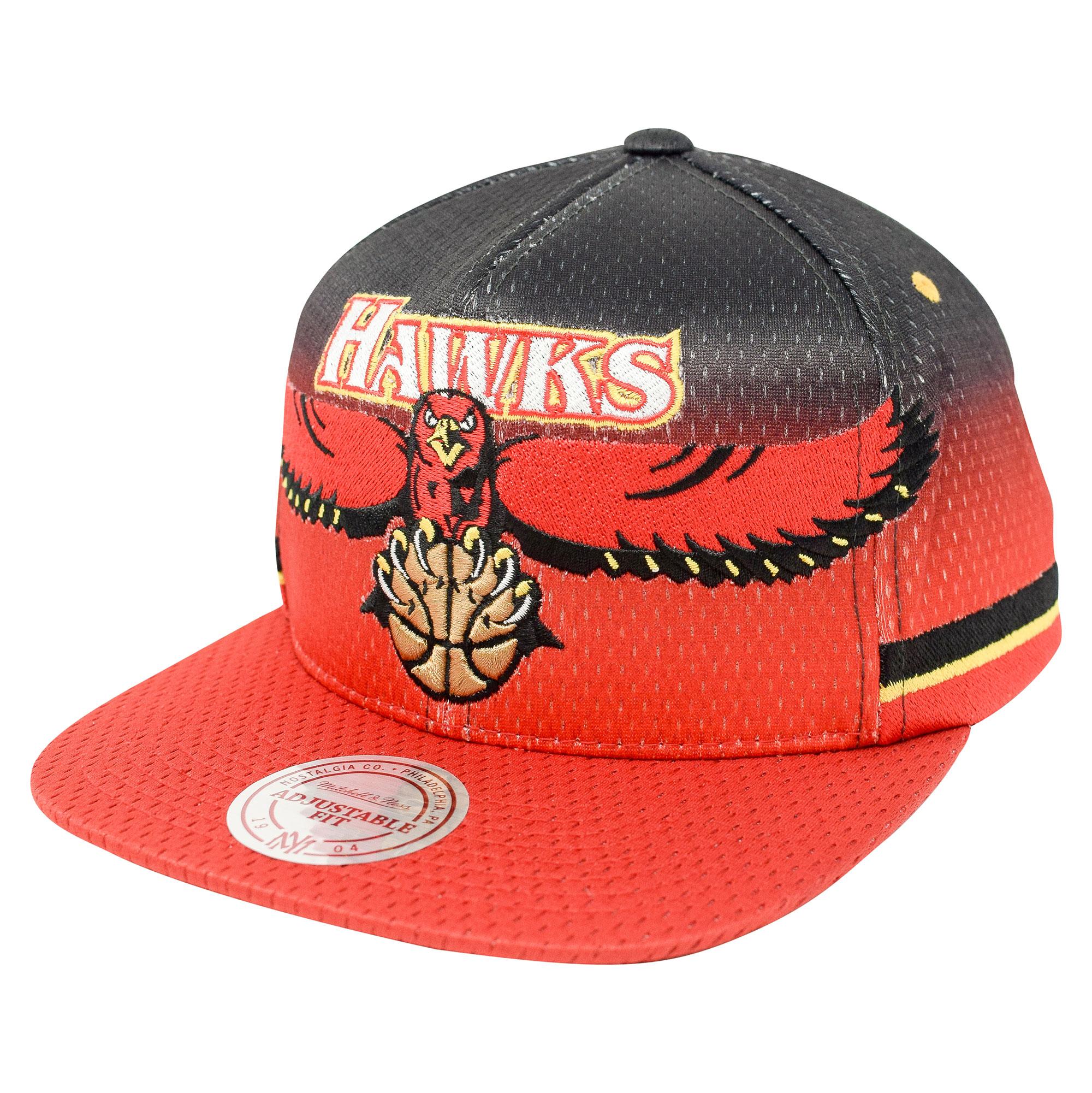 "Image of ""Atlanta Hawks Hardwood Classics Jersey Hook Up Mesh Crown Snapback Cap - Mens"""