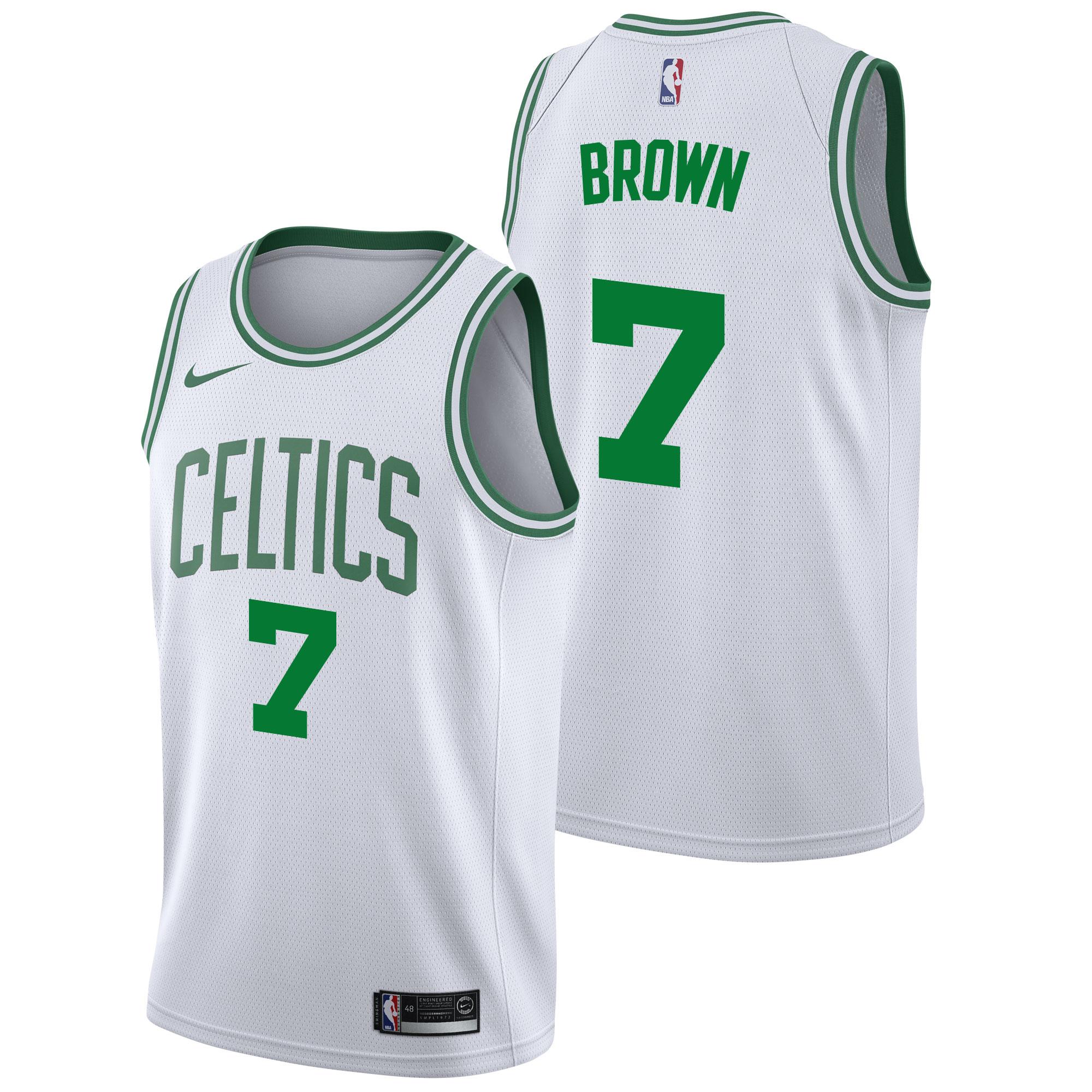 Boston Celtics Nike Association Swingman Camiseta de la NBA - Jaylen Brown - Hombre