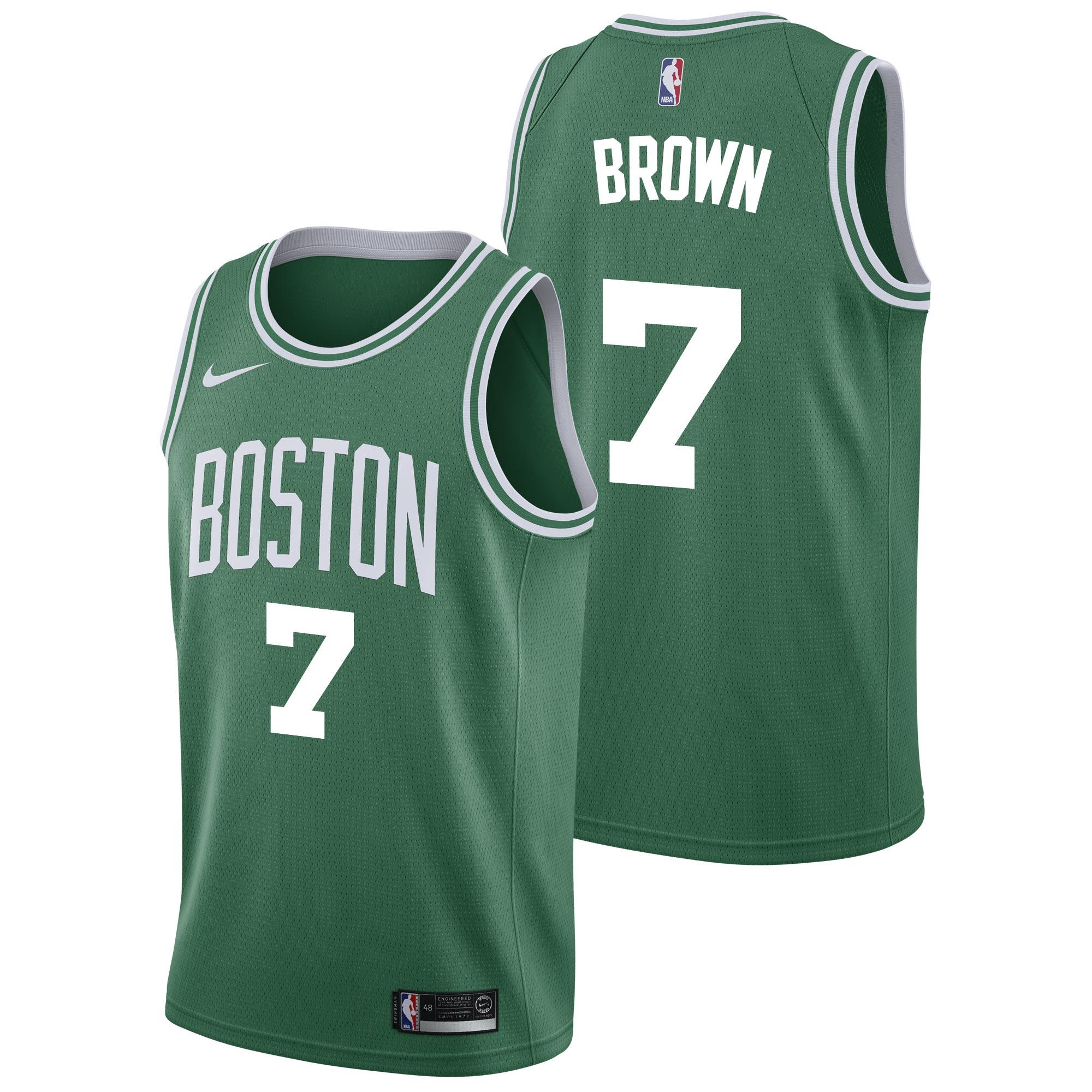"""Boston Celtics Nike Icon Swingman Jersey - Jaylen Brown - Mens"""