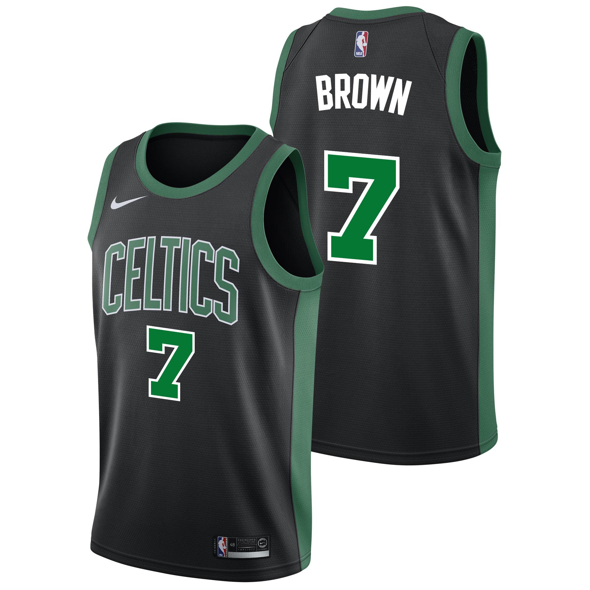 """Boston Celtics Nike Statement Swingman Jersey - Jaylen Brown - Mens"""