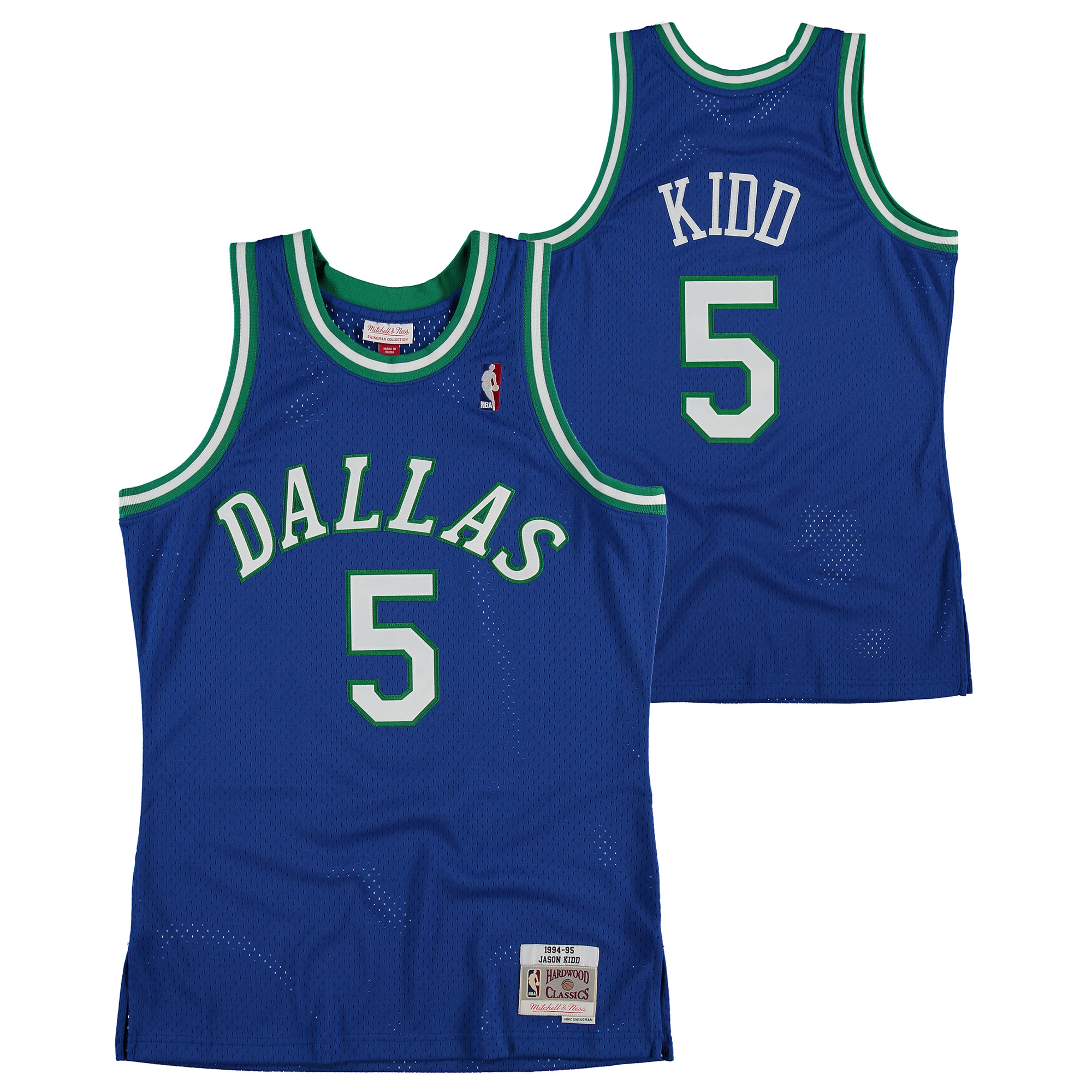 """Dallas Mavericks Jason Kidd Hardwood Classics Road Swingman Jersey - Mens"""