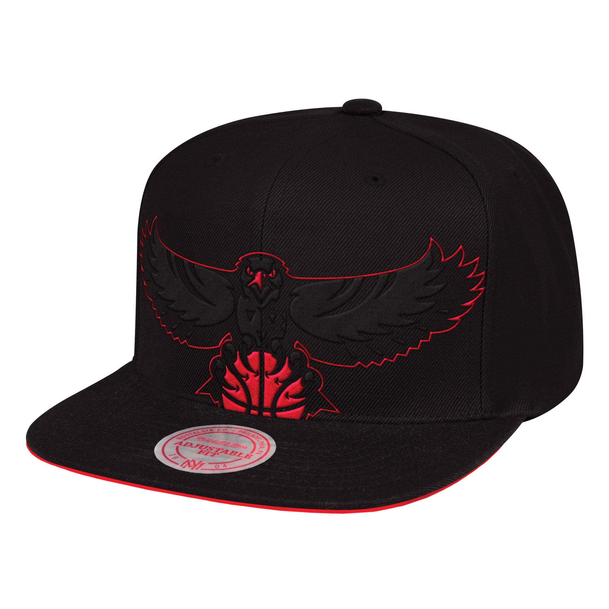 "Image of ""Atlanta Hawks Hardwood Classics Cropped XL Snapback Cap By Mitchell & Ness"""
