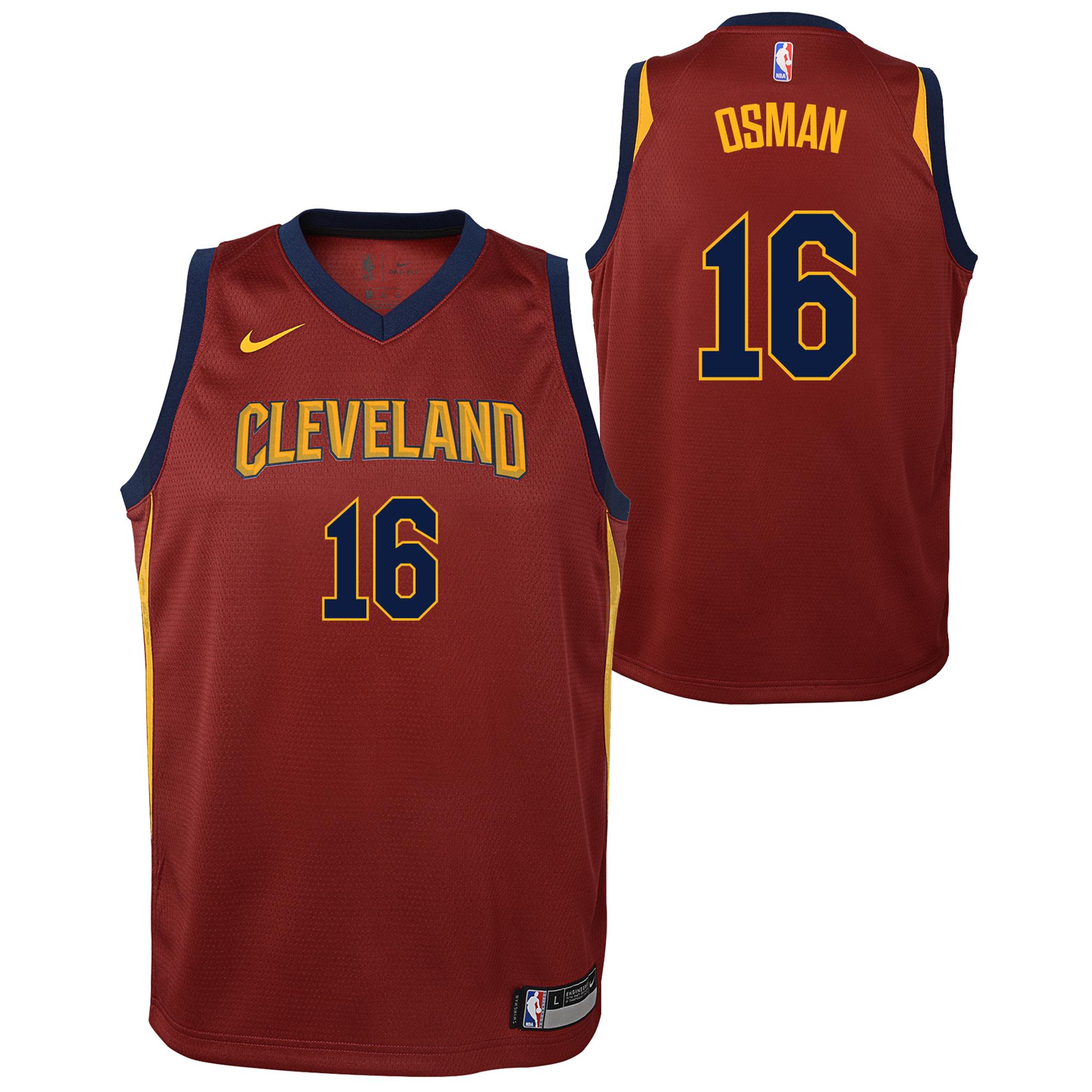 Cleveland Cavaliers Nike Icon Swingman Camiseta de la NBA - Cedi Osman - Adolescentes