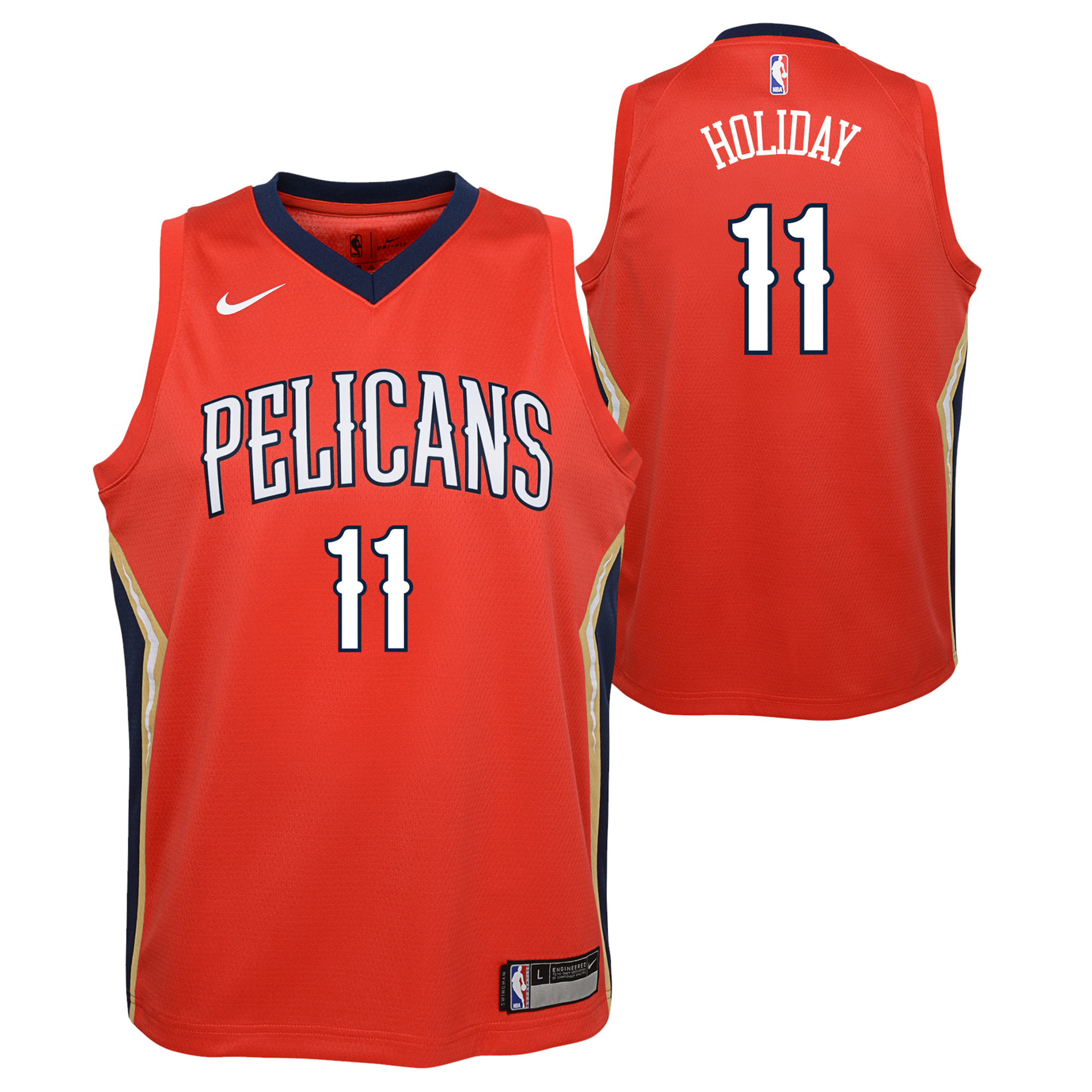 New Orleans Pelicans Nike Statement Swingman Camiseta de la NBA - Jrue Holiday - Adolescentes