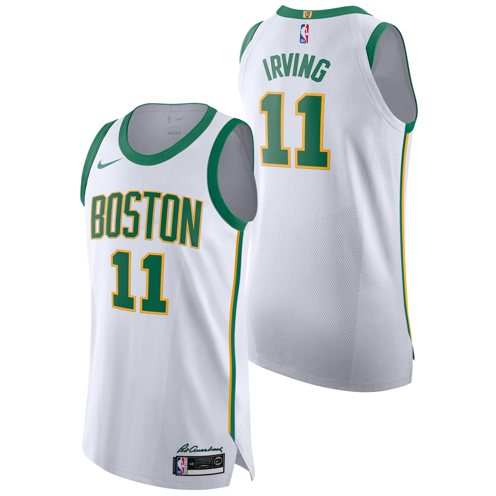 """Boston Celtics Nike City Edition Authentic Jersey - Kyrie Irving - Mens"""