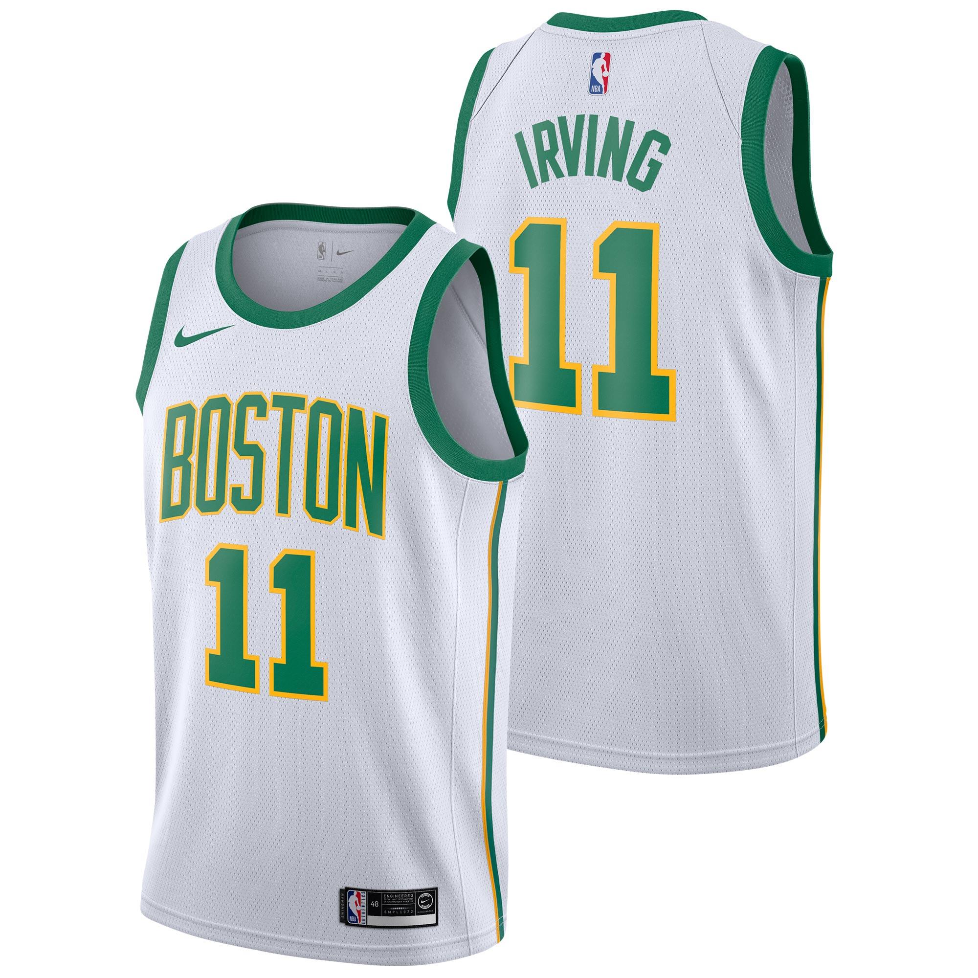 """Boston Celtics Nike City Edition Swingman Jersey - Kyrie Irving - Mens"""