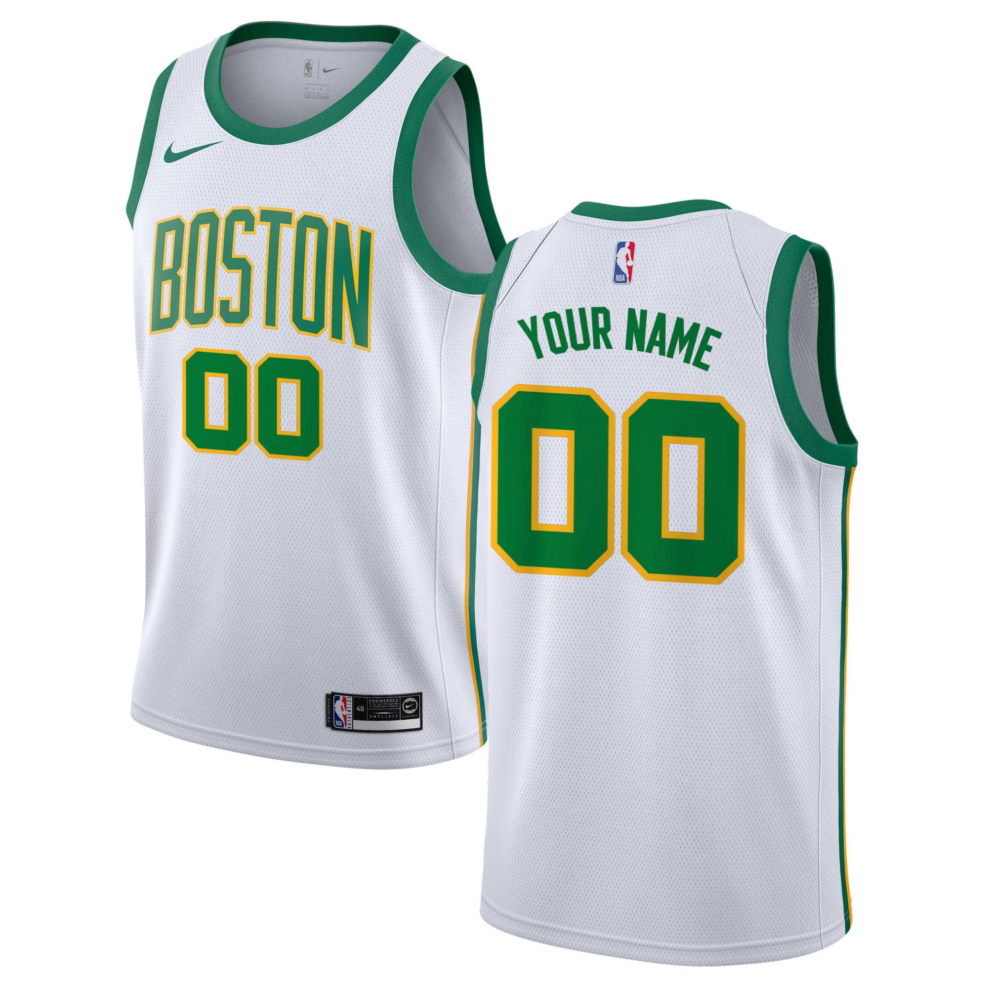 """Boston Celtics Nike City Edition Swingman Jersey - Custom - Mens"""