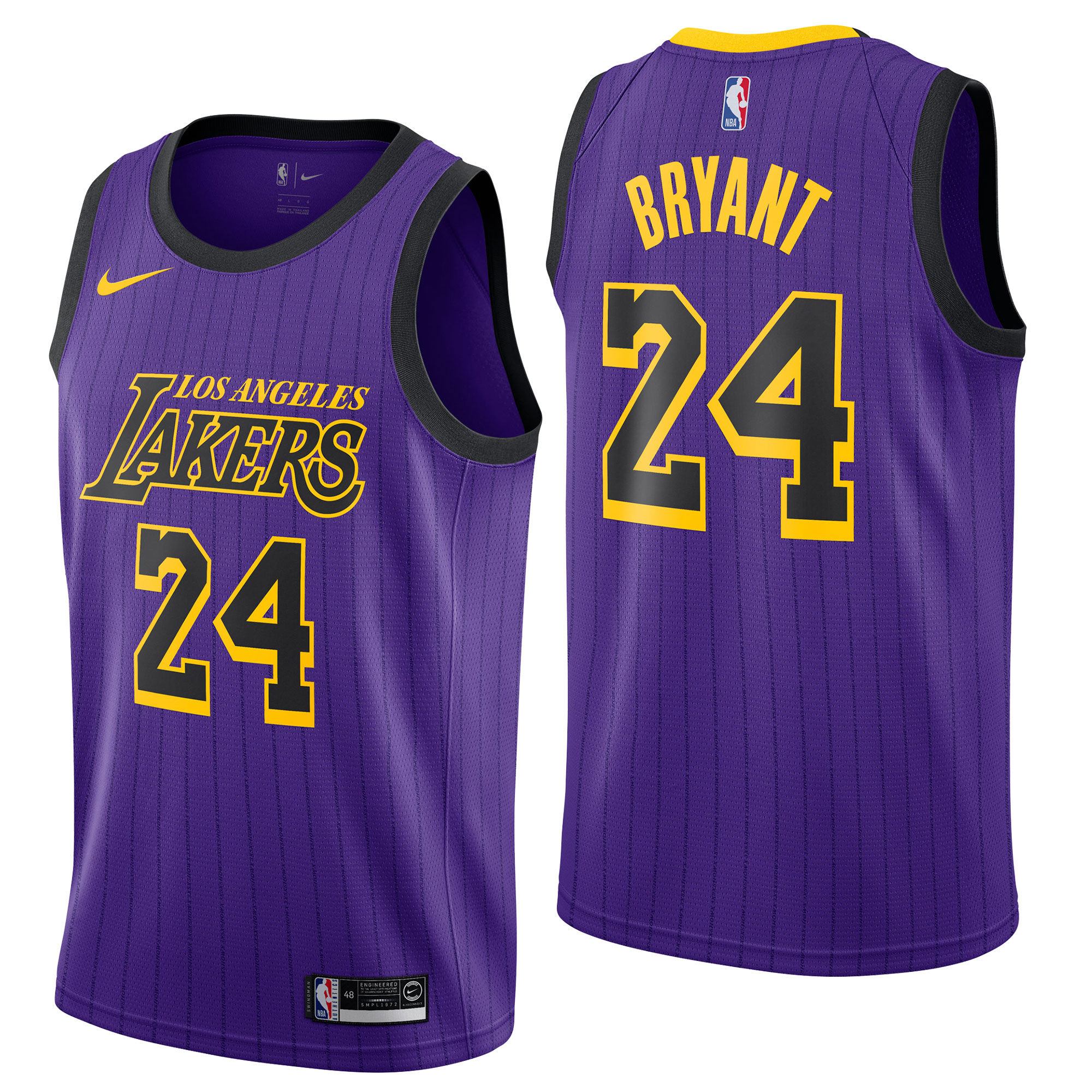 """Los Angeles Lakers Nike City Edition Swingman Jersey - No.24 - Kobe Bryant - Mens"""