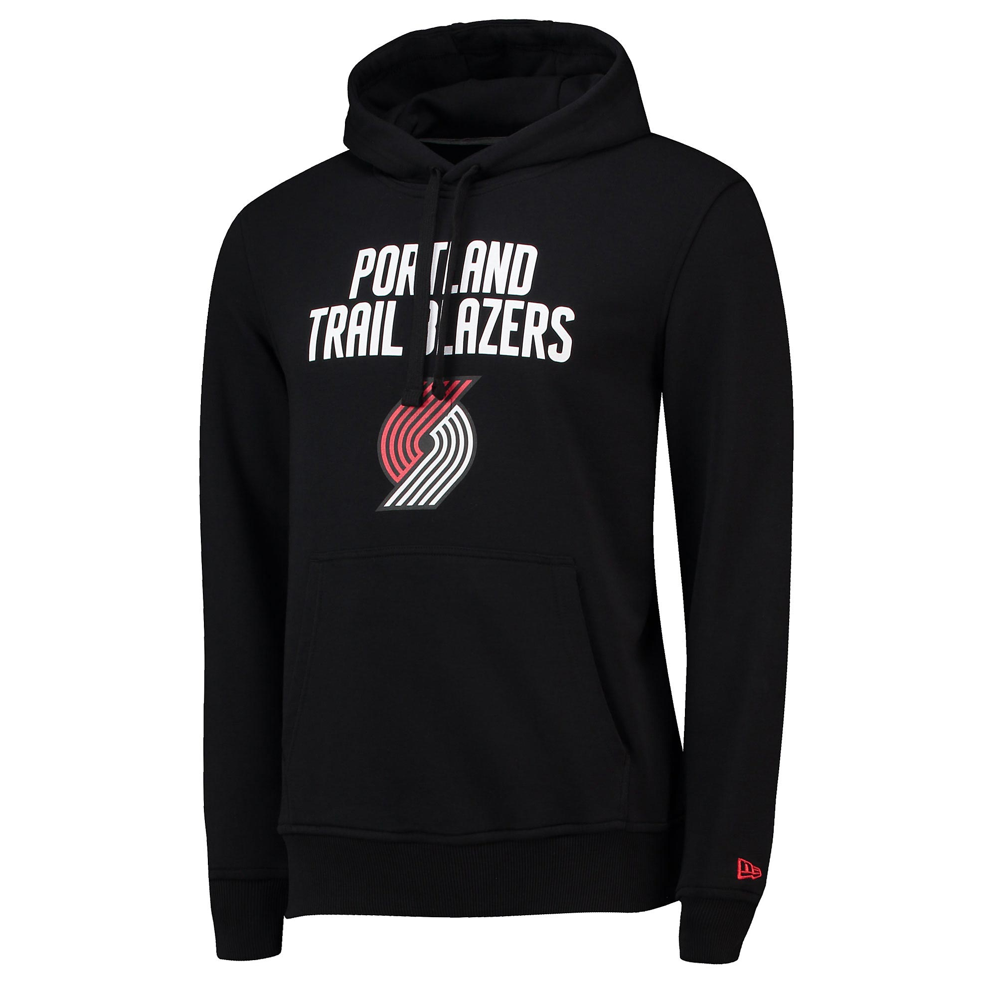Sudadera con capucha de los Portland Trail Blazers con logotipo del equipo de New Era para hombre