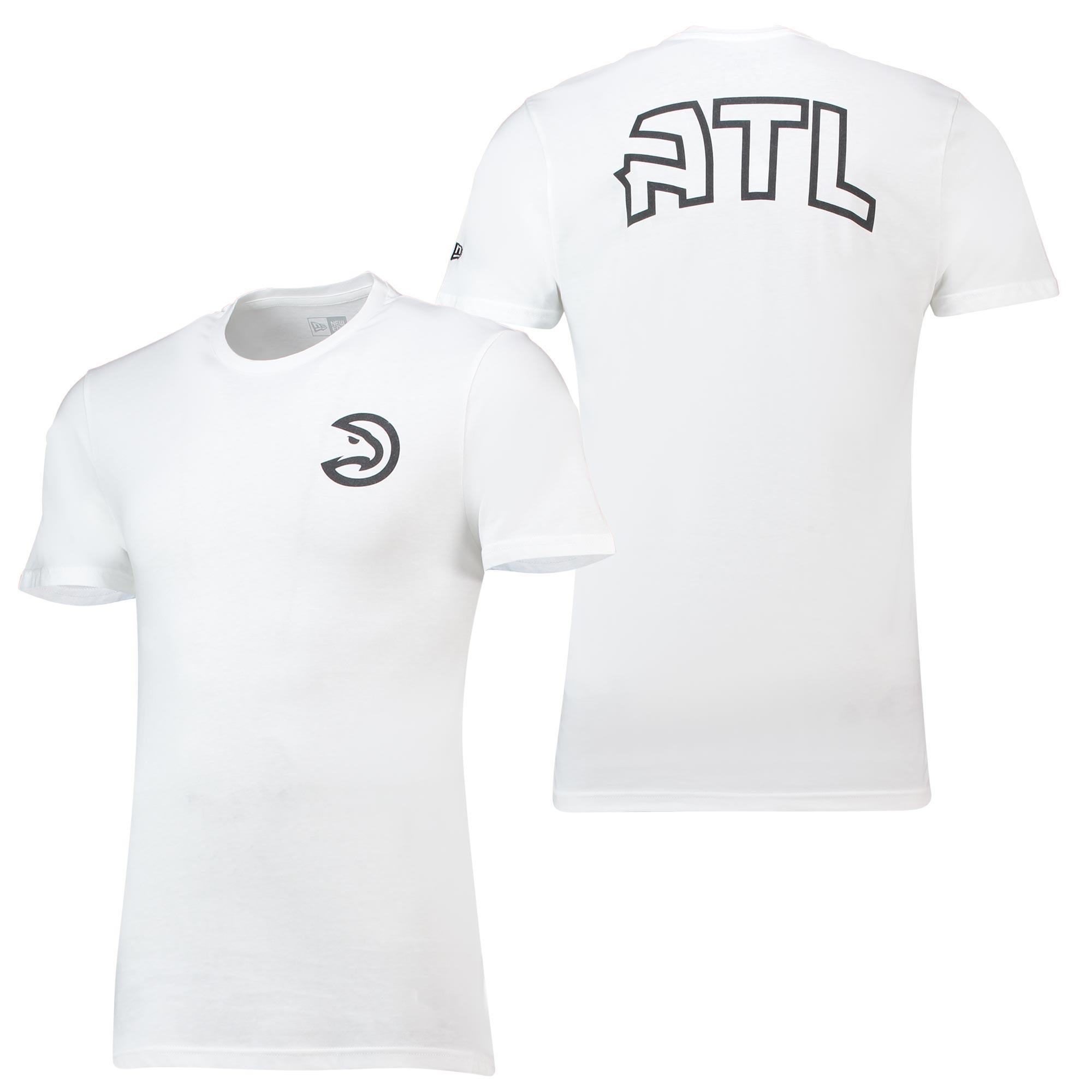 Camiseta Core Dual Logo de los Atlanta Hawks de New Era para hombre