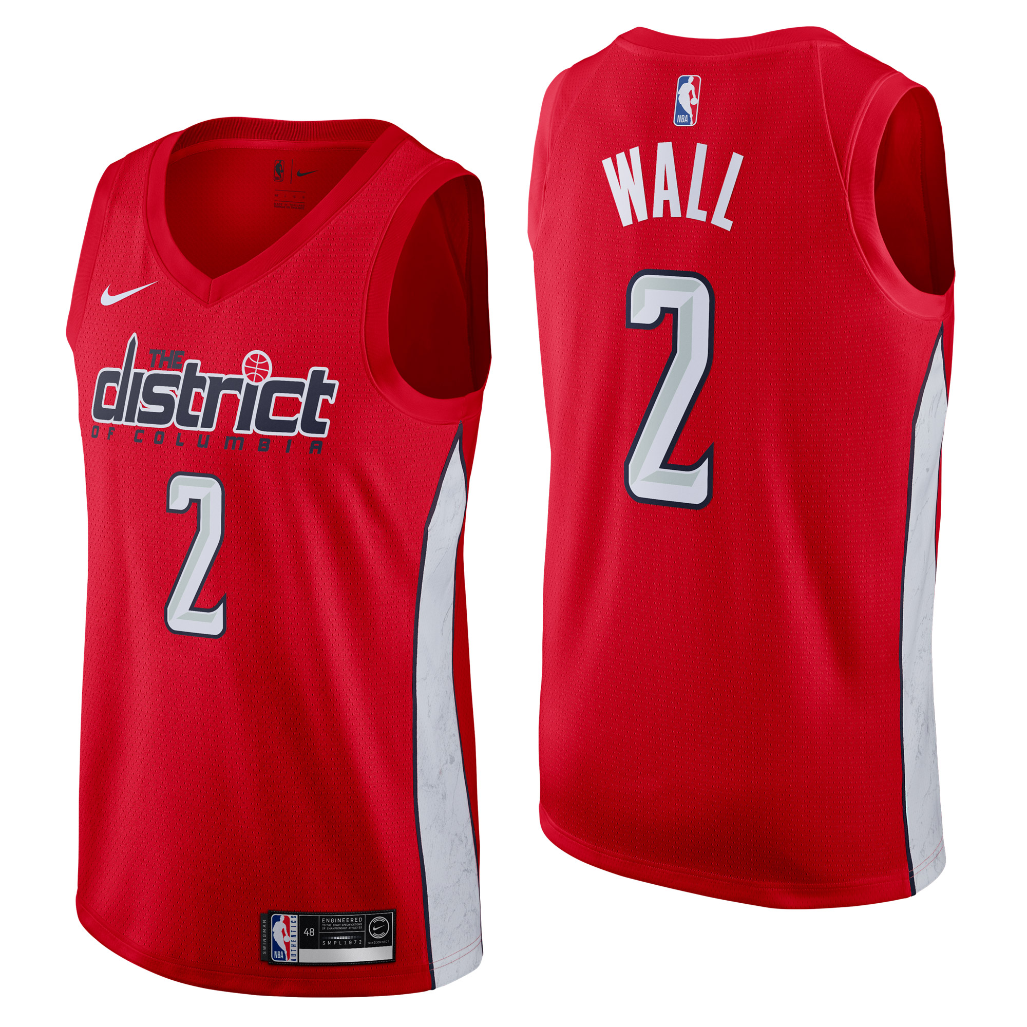 Camiseta Nike Earned Edition Swingman de John Wall de los Washington Wizards para hombre