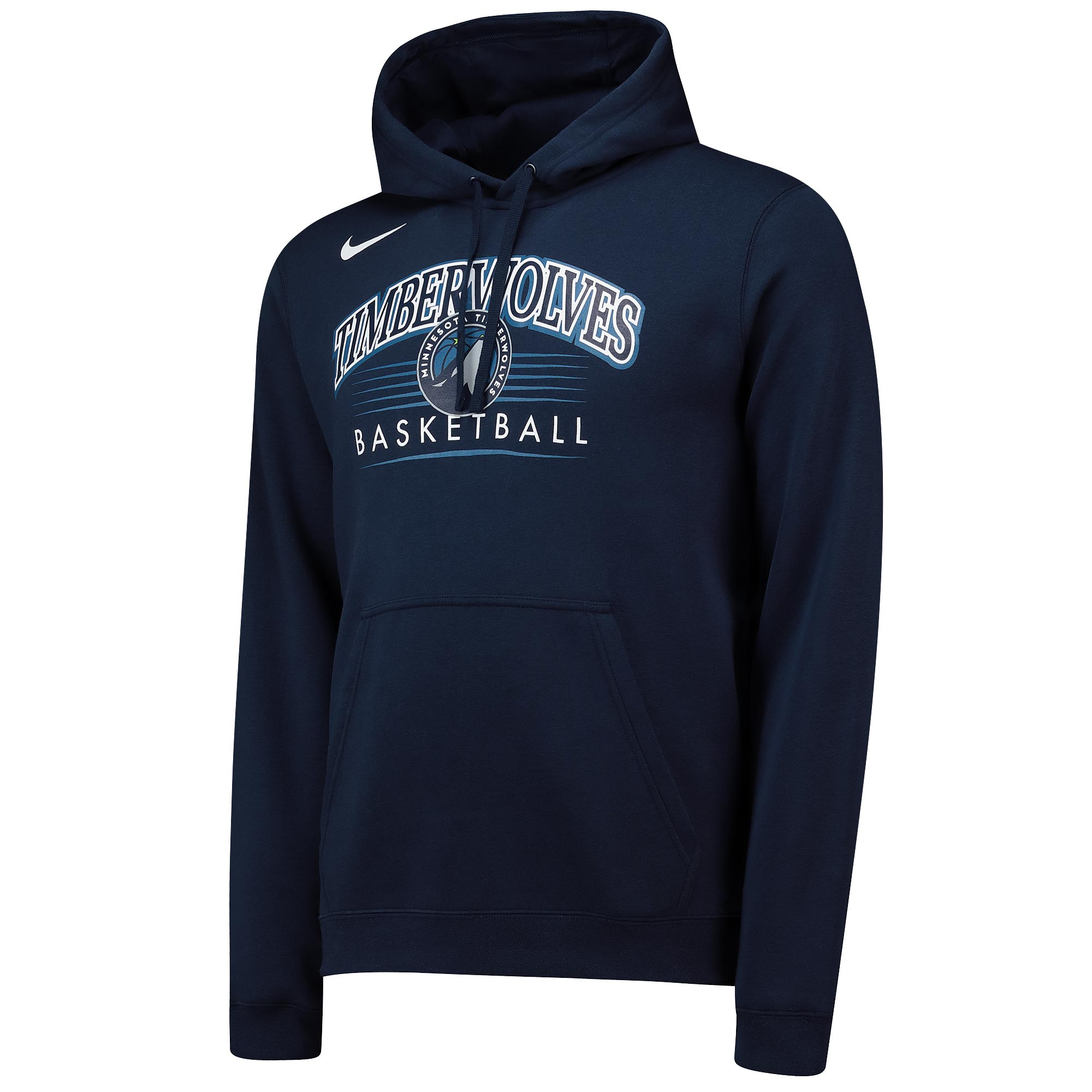 Sudadera con capucha Crest Logo de Nike de los Minnesota Timberwolves en azul marino College para hombre