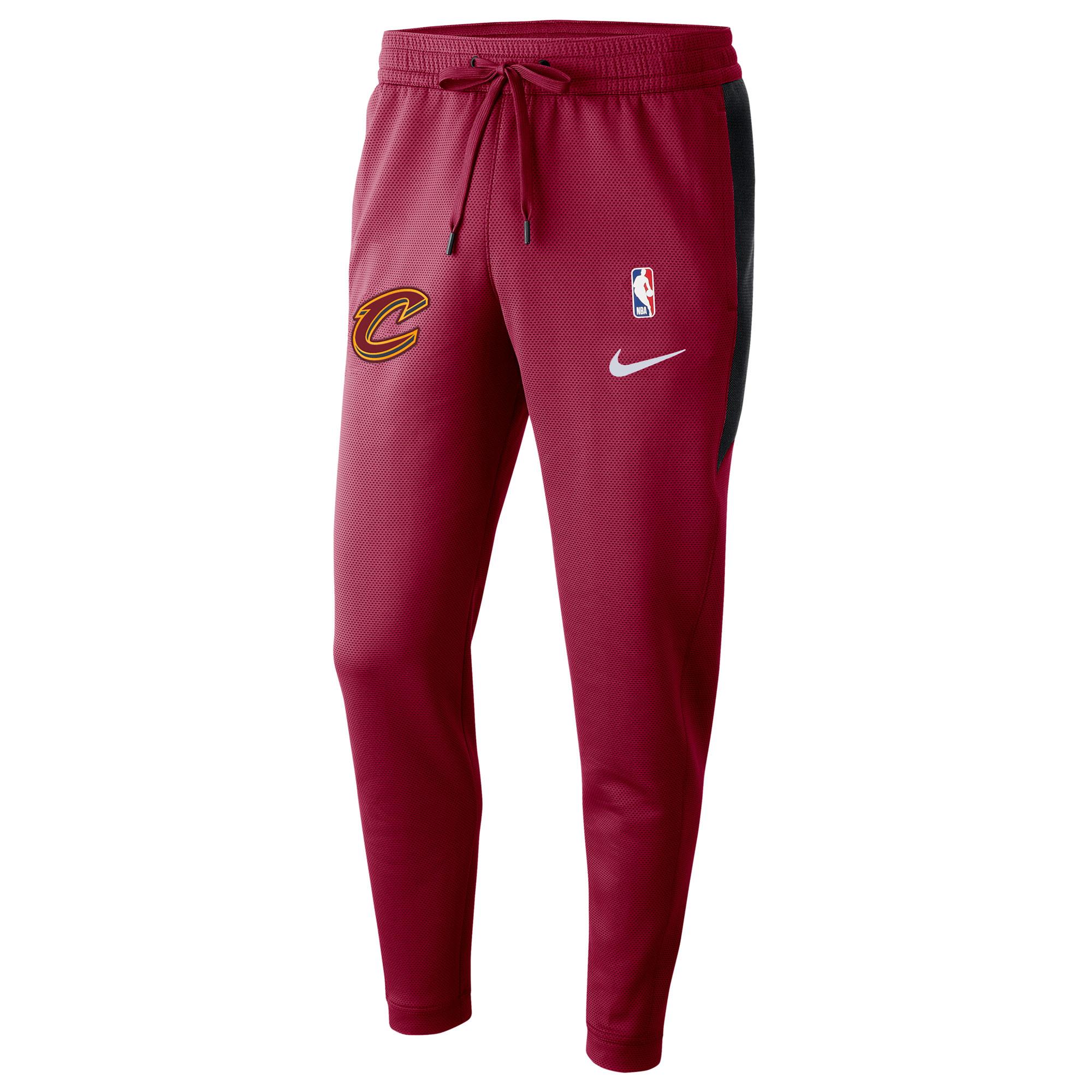 Pantalón Nike Thermaflex Showtime de los Cleveland Cavaliers en el color rojo del equipo para hombre
