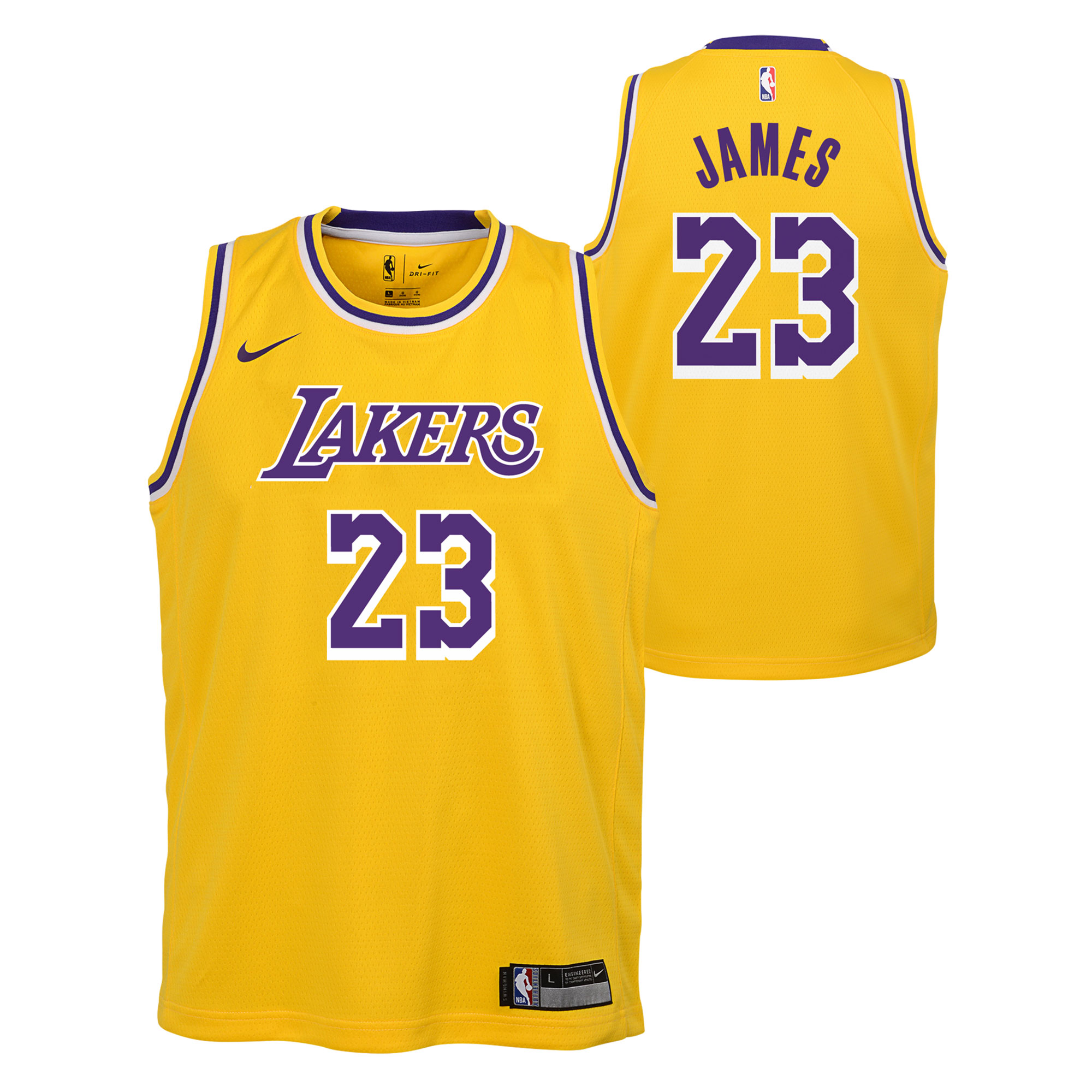 """Los Angeles Lakers Nike Icon Swingman Jersey - LeBron James - Youth"""