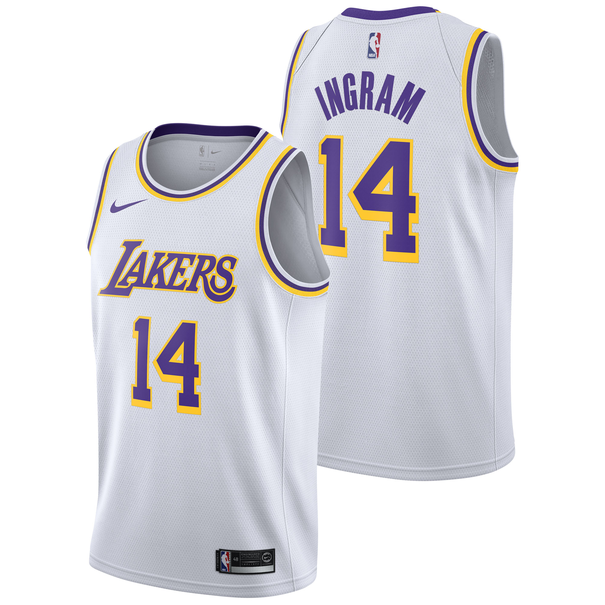 """Los Angeles Lakers Nike Association Swingman Jersey - Brandon Ingram - Mens"""