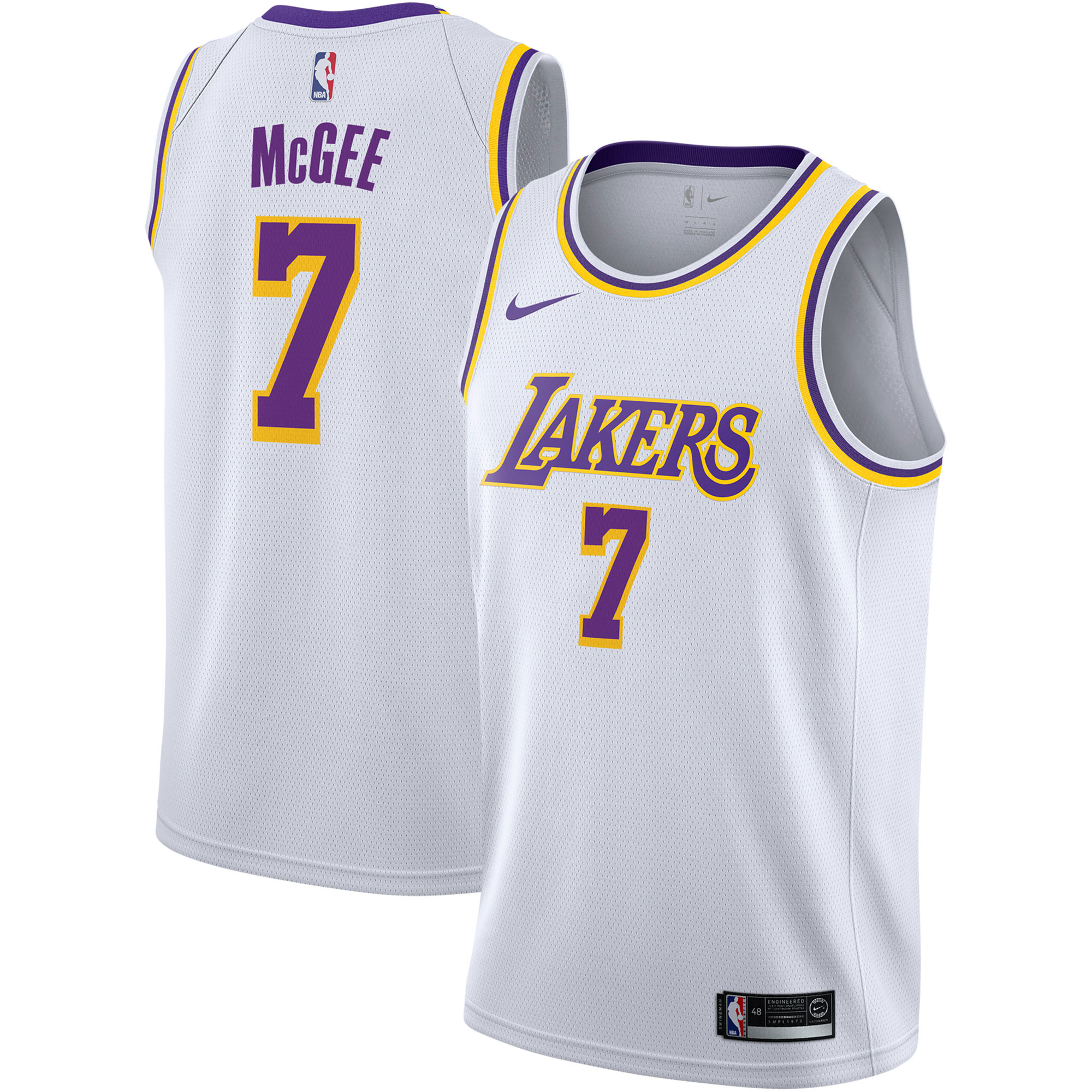 """Los Angeles Lakers Nike Association Swingman Jersey - JaVale McGee - Mens"""