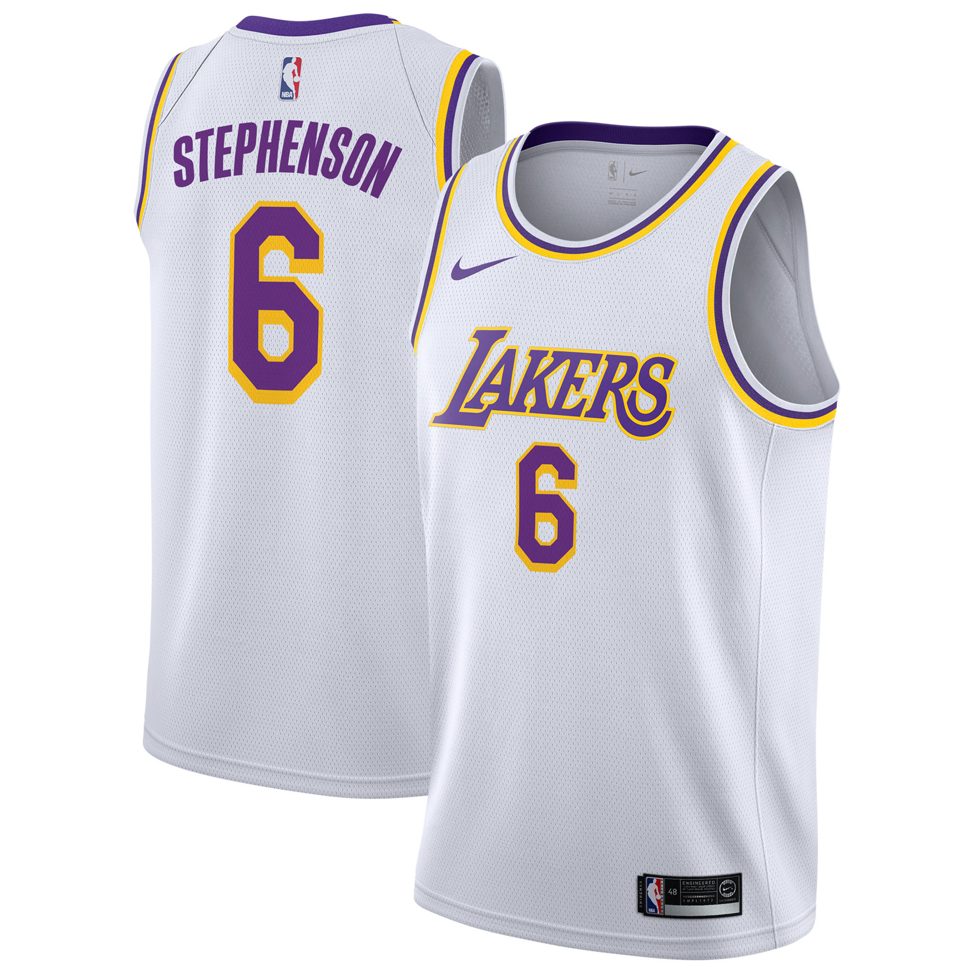 """Los Angeles Lakers Nike Association Swingman Jersey - Lance Stephenson - Mens"""