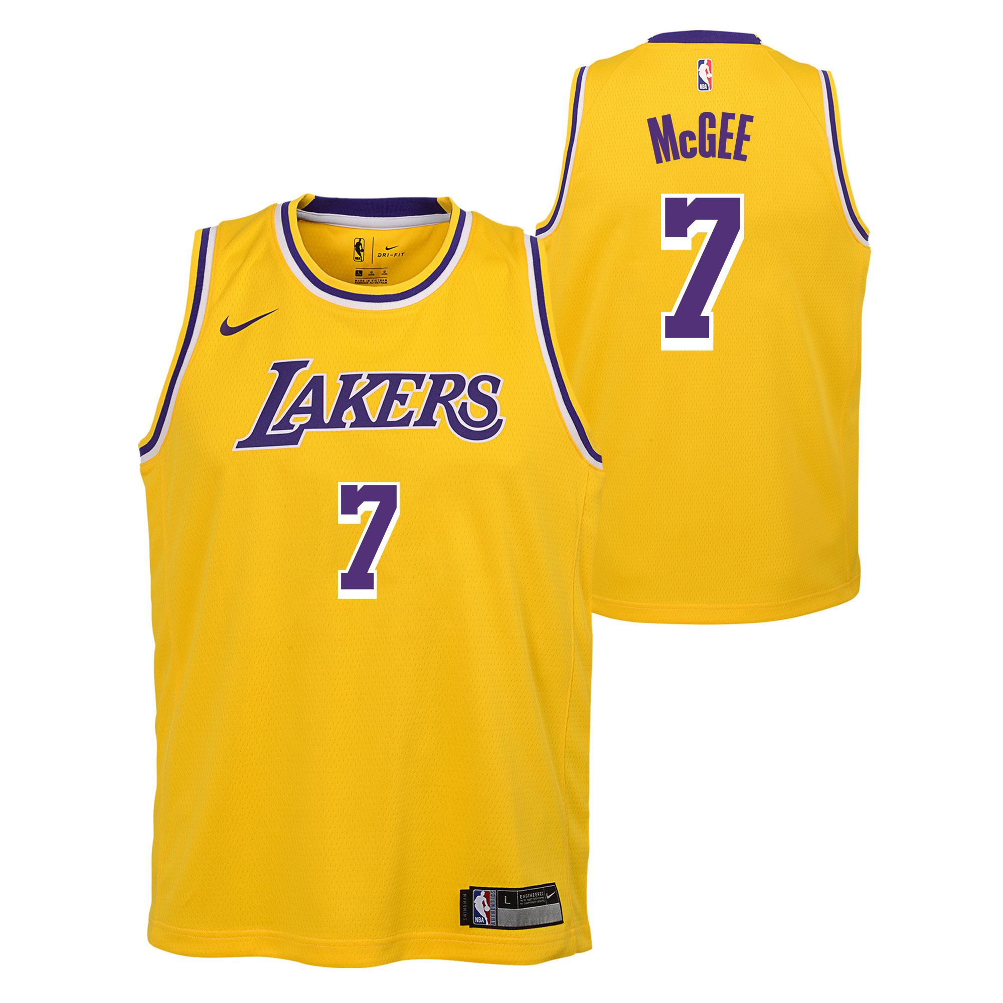 """Los Angeles Lakers Nike Icon Swingman Jersey - JaVale McGee - Youth"""