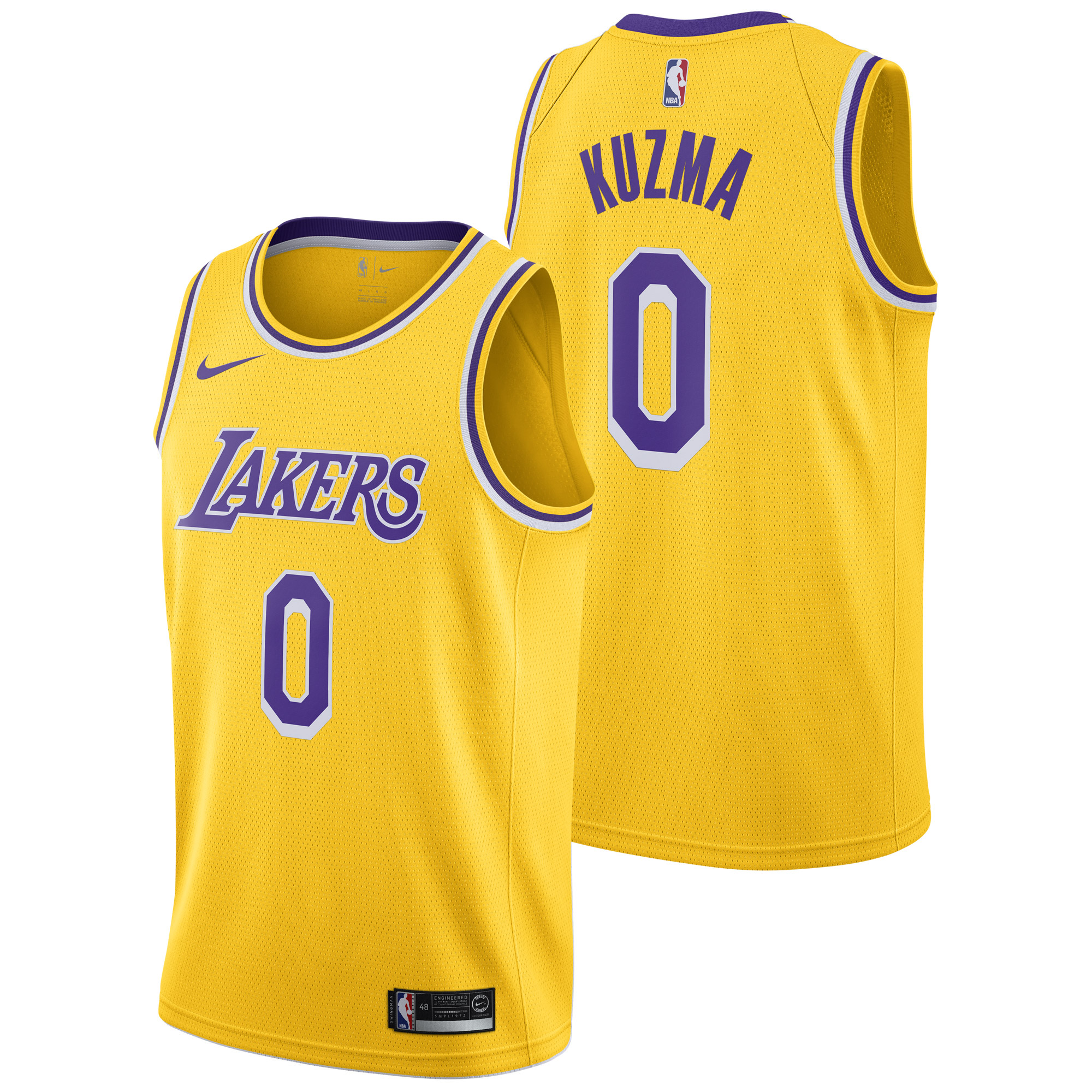 """Los Angeles Lakers Nike Icon Swingman Jersey - Kyle Kuzma - Mens"""