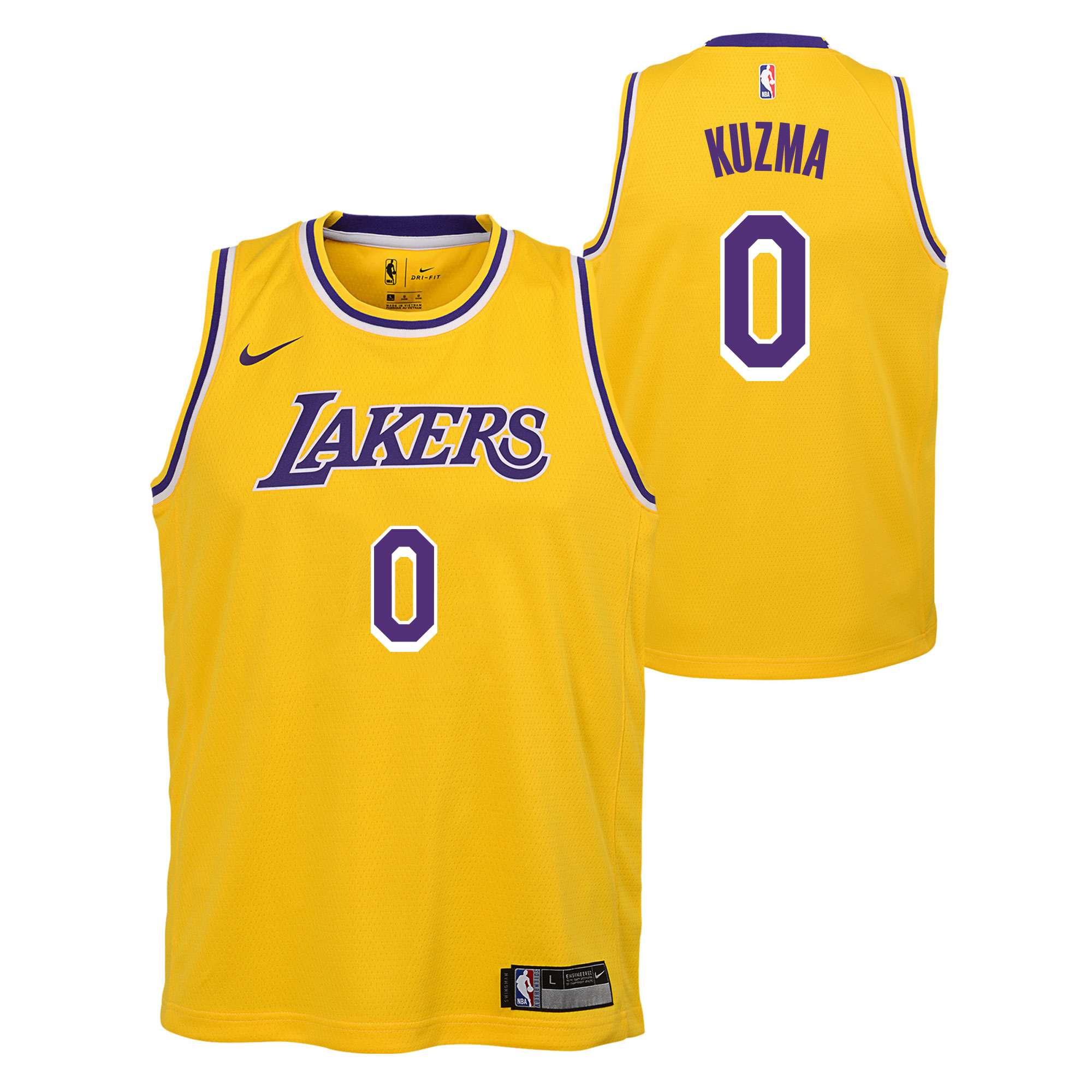 """Los Angeles Lakers Nike Icon Swingman Jersey - Kyle Kuzma - Youth"""