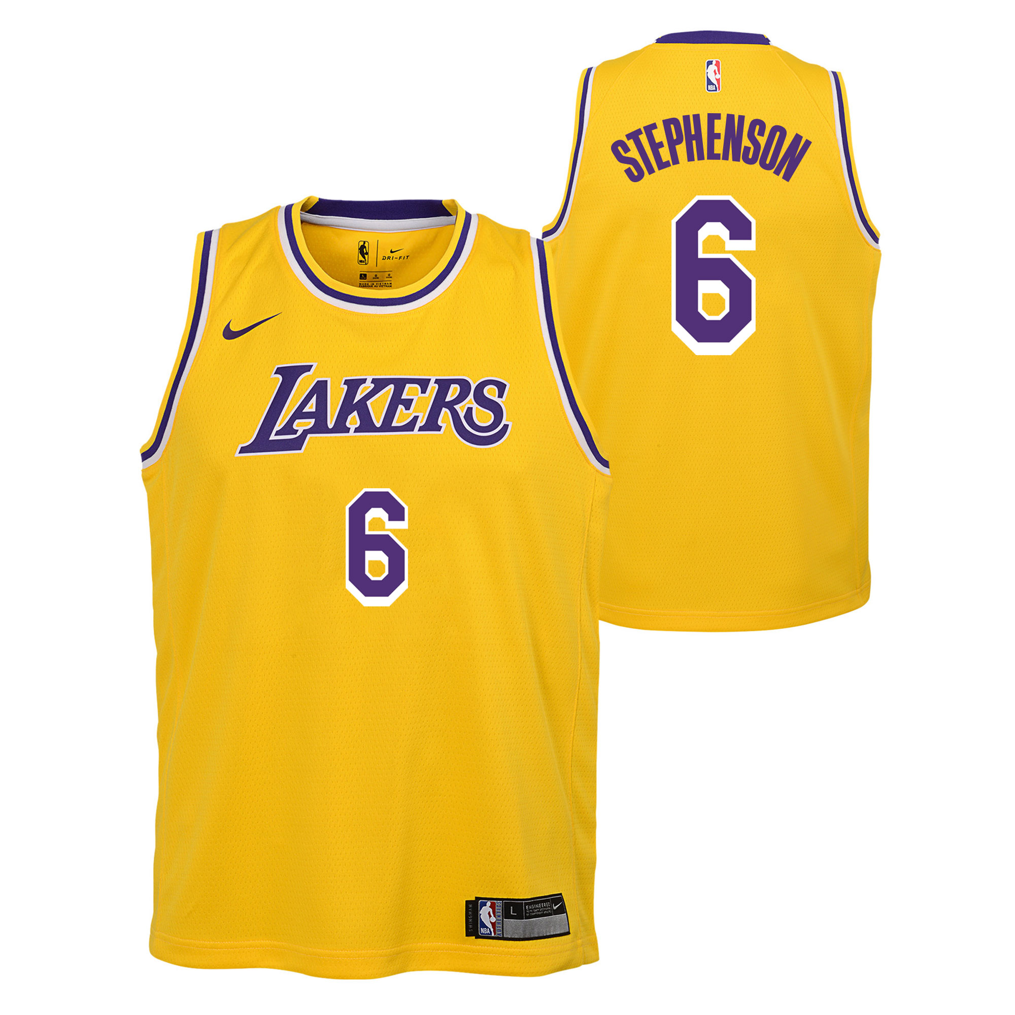 """Los Angeles Lakers Nike Icon Swingman Jersey - Lance Stephenson - Youth"""