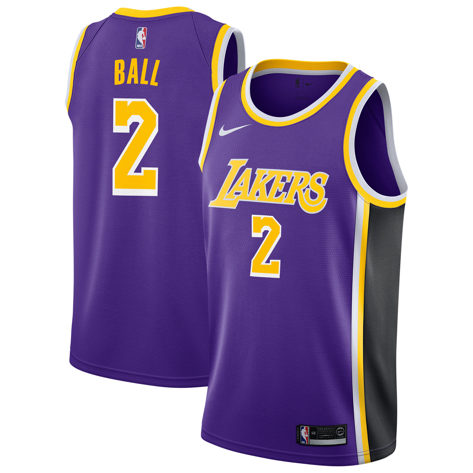 """Los Angeles Lakers Nike Statement Swingman Jersey - Lonzo Ball - Mens"""