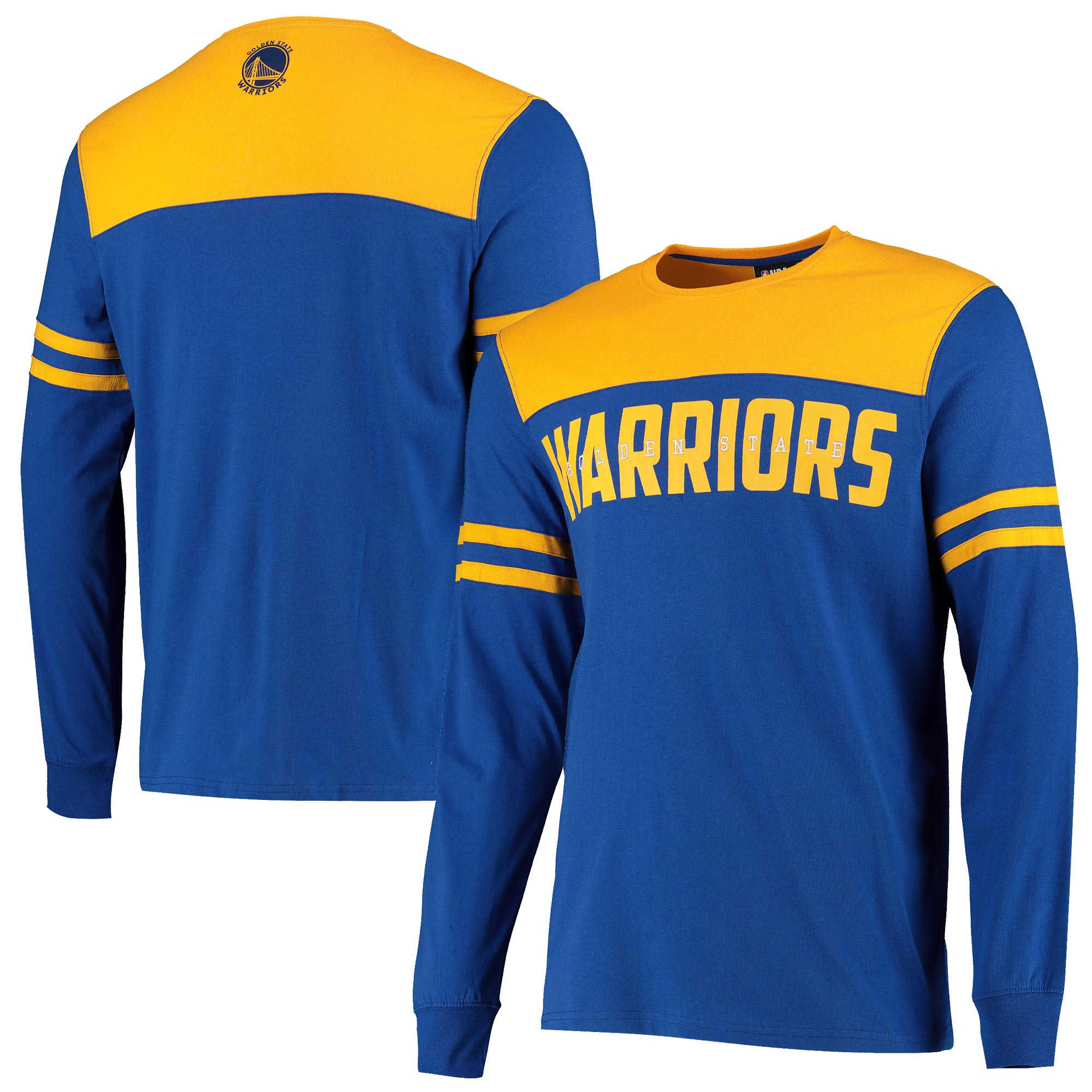 Fanatics Branded UK / Camiseta de Golden State Warriors Cut And Sew Manga Larga - Oro - Hombres