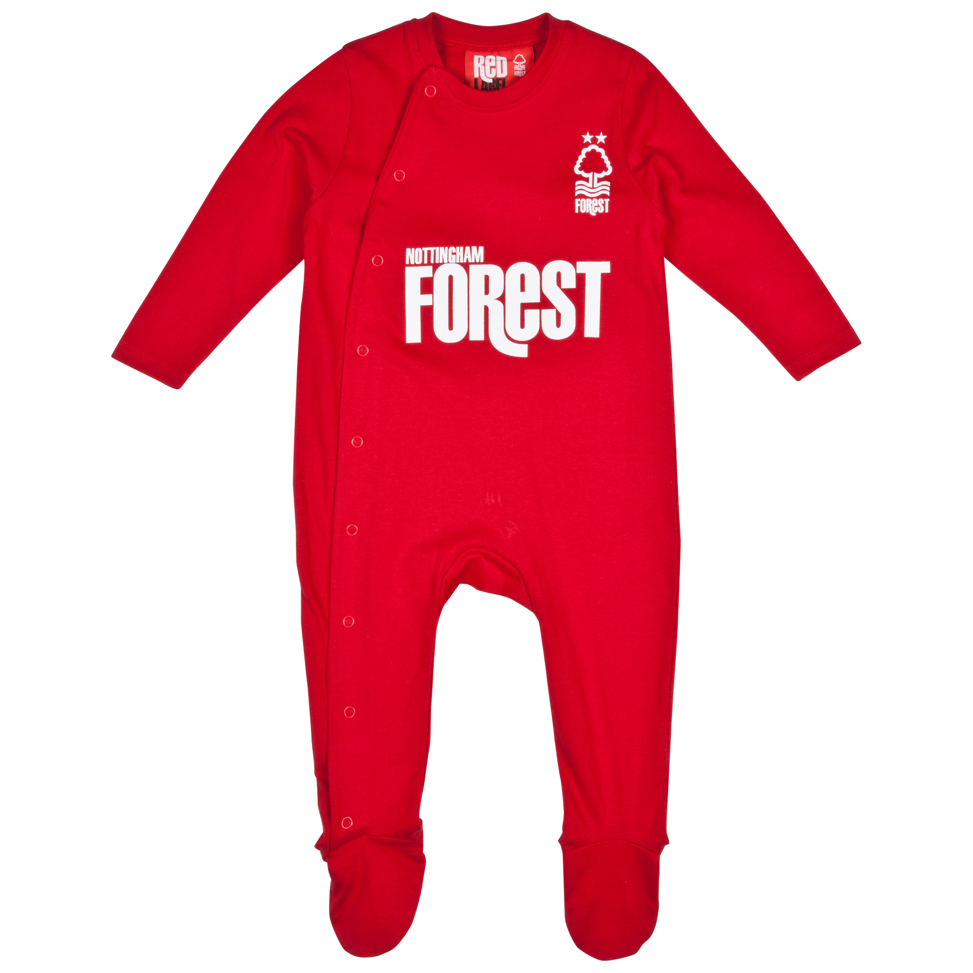 Nottingham Forest 12/13 Kit Sleepsuit - Red - Baby