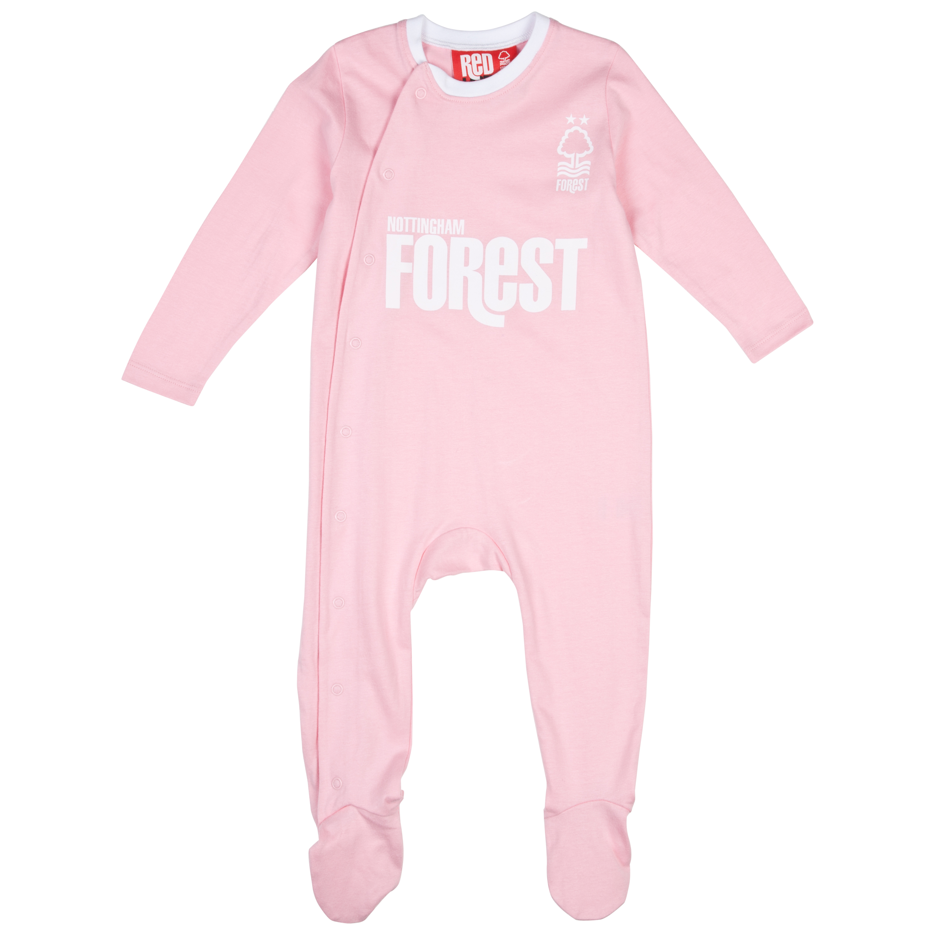 Nottingham Forest 12/13 Kit Sleepsuit Pink Baby