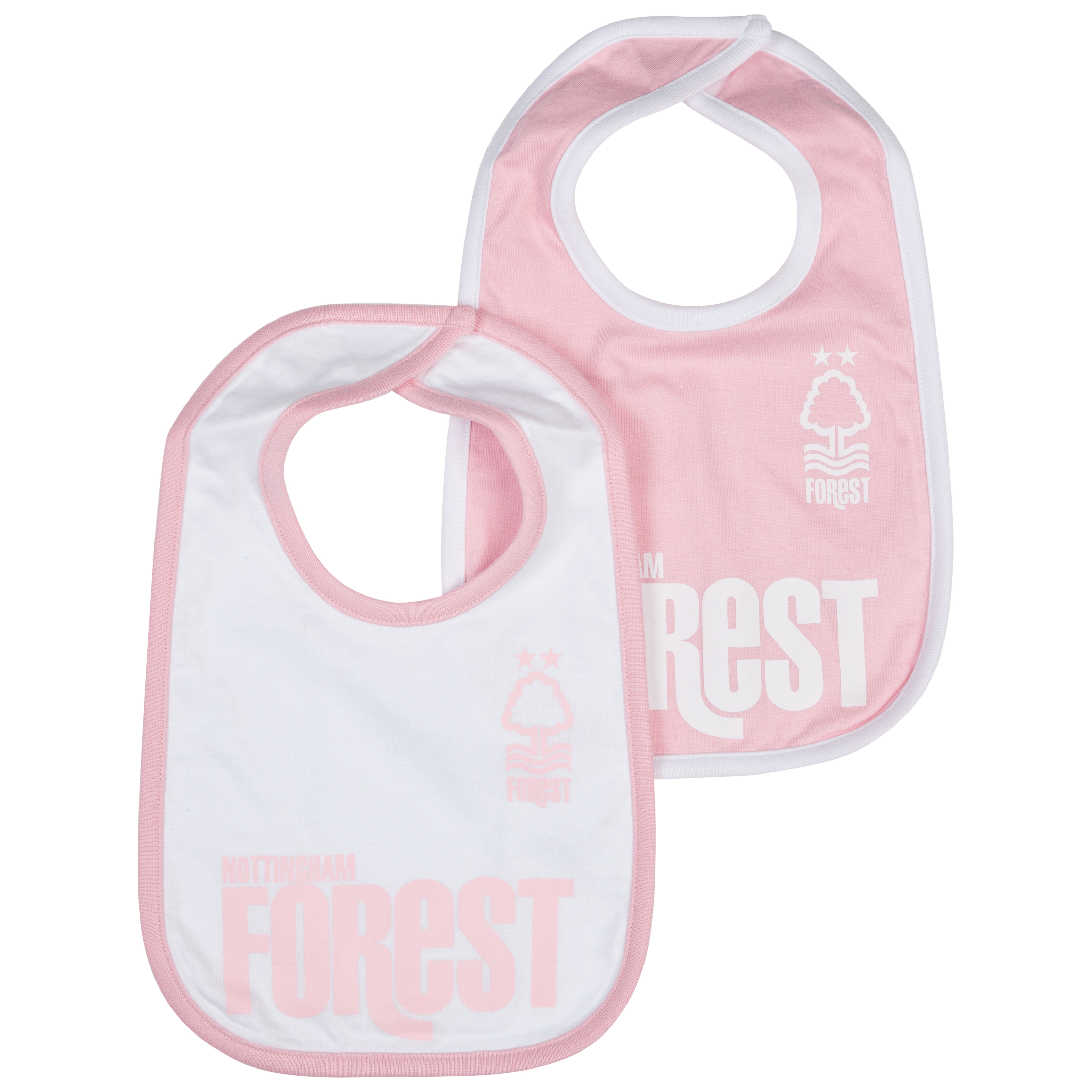 Nottingham Forest Pack of 2 Kit Bibs - Pink/White - Baby