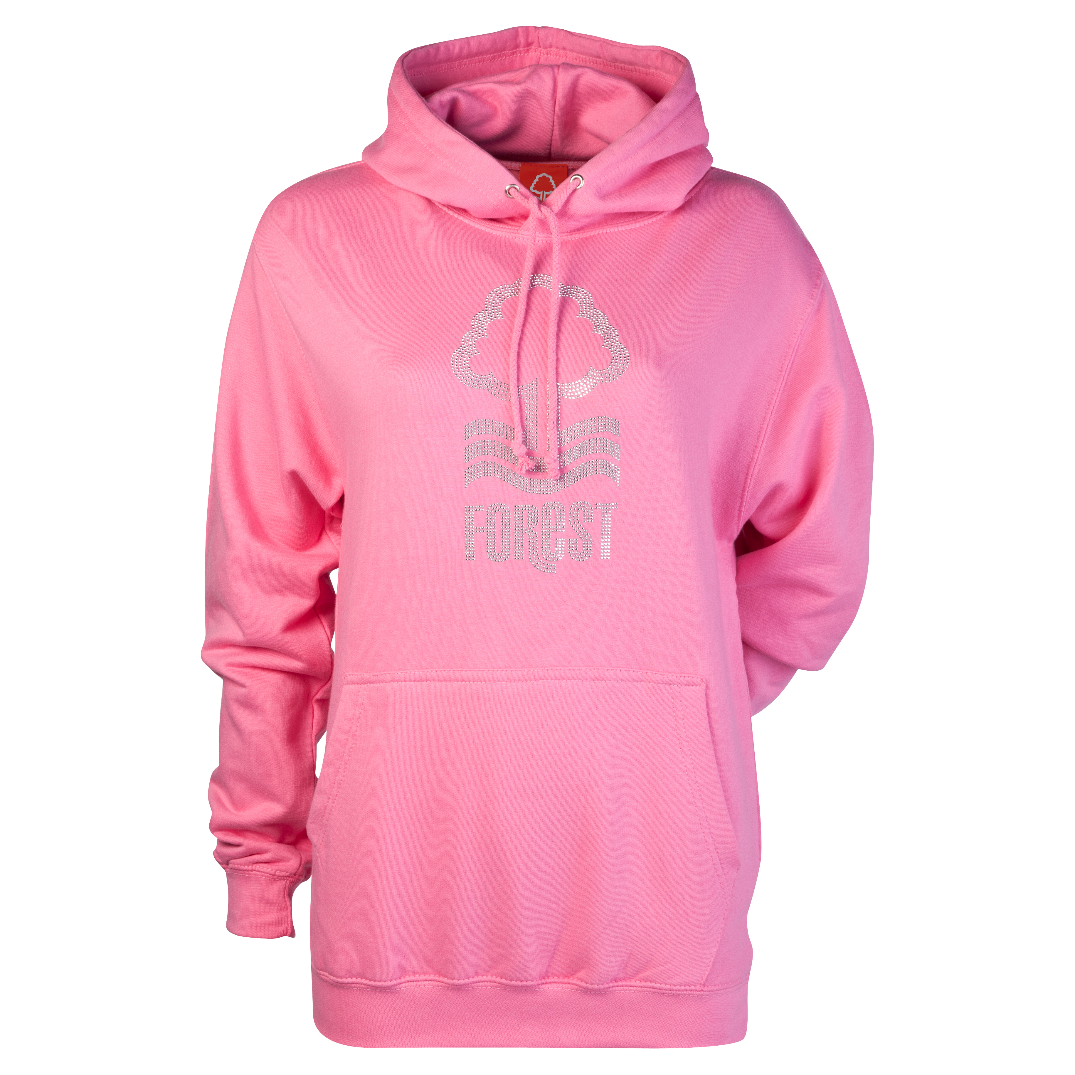 Nottingham Forest Rhinestone Hoodie - Candyfloss Pink - Womens