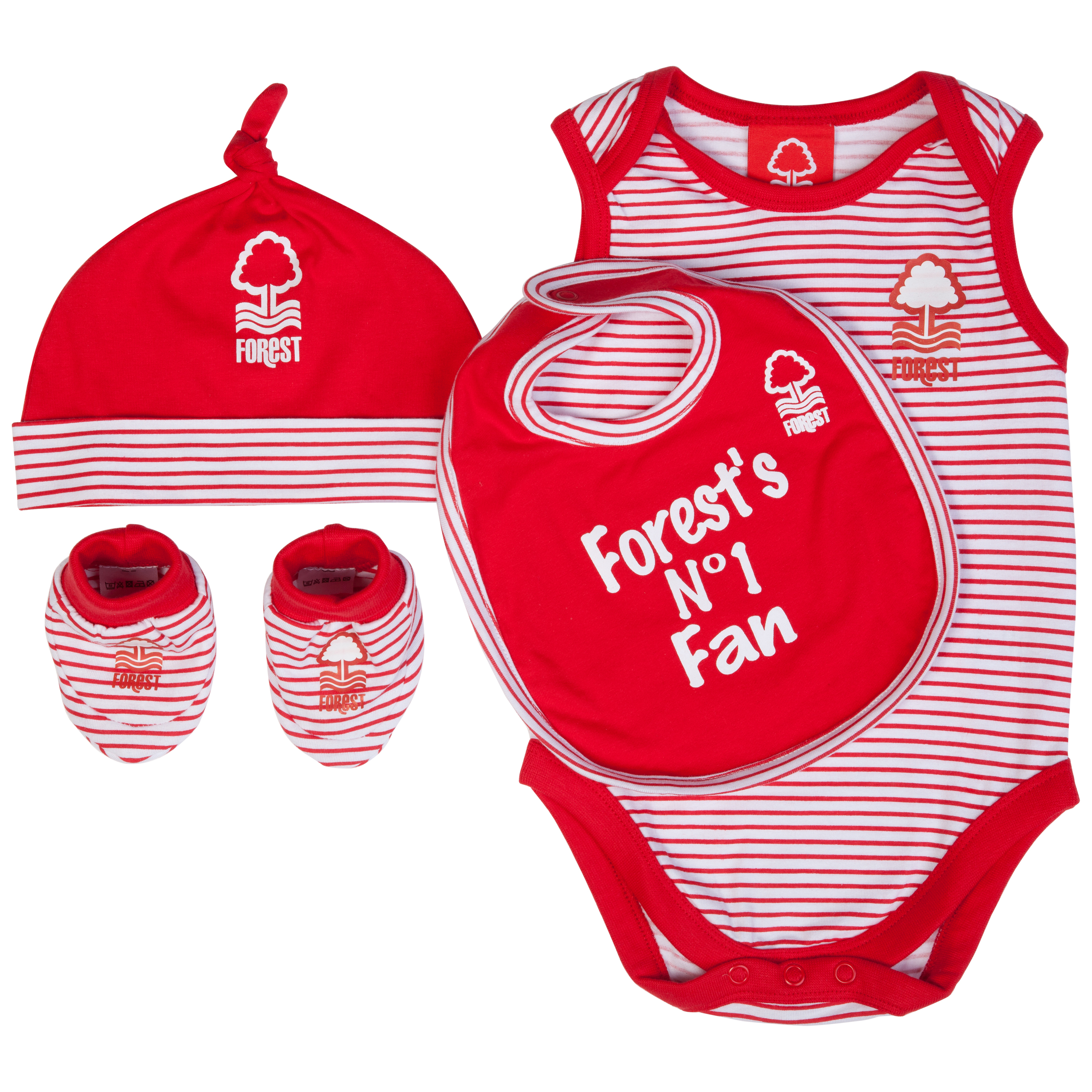 Nottingham Forest 4 Piece Gift Set - White/Red - Baby