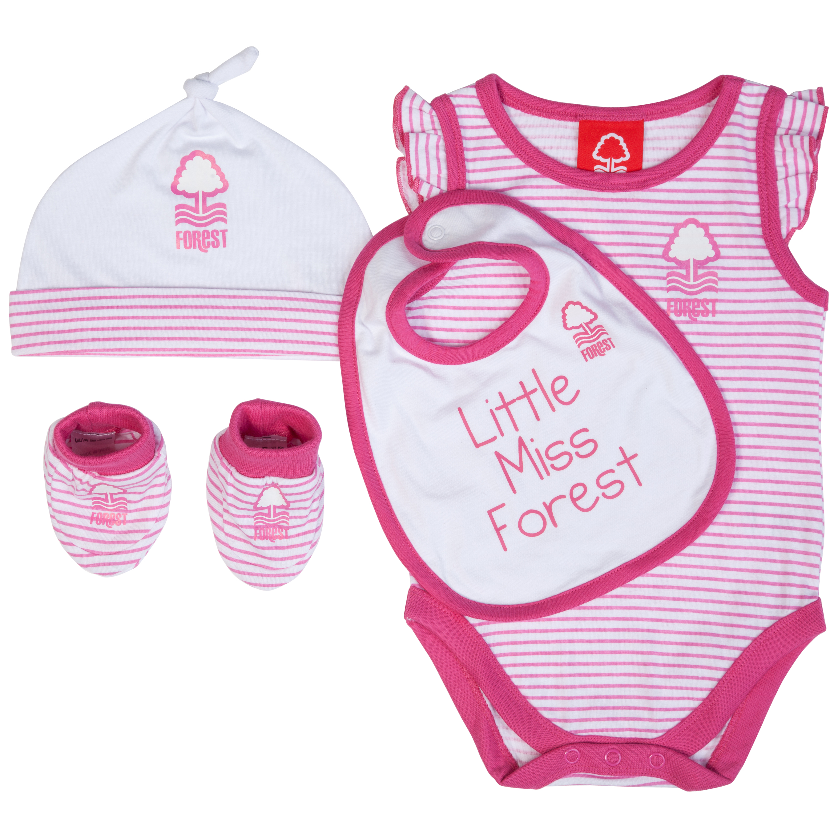 Nottingham Forest 4 Piece Gift Set - White/Pink - Baby