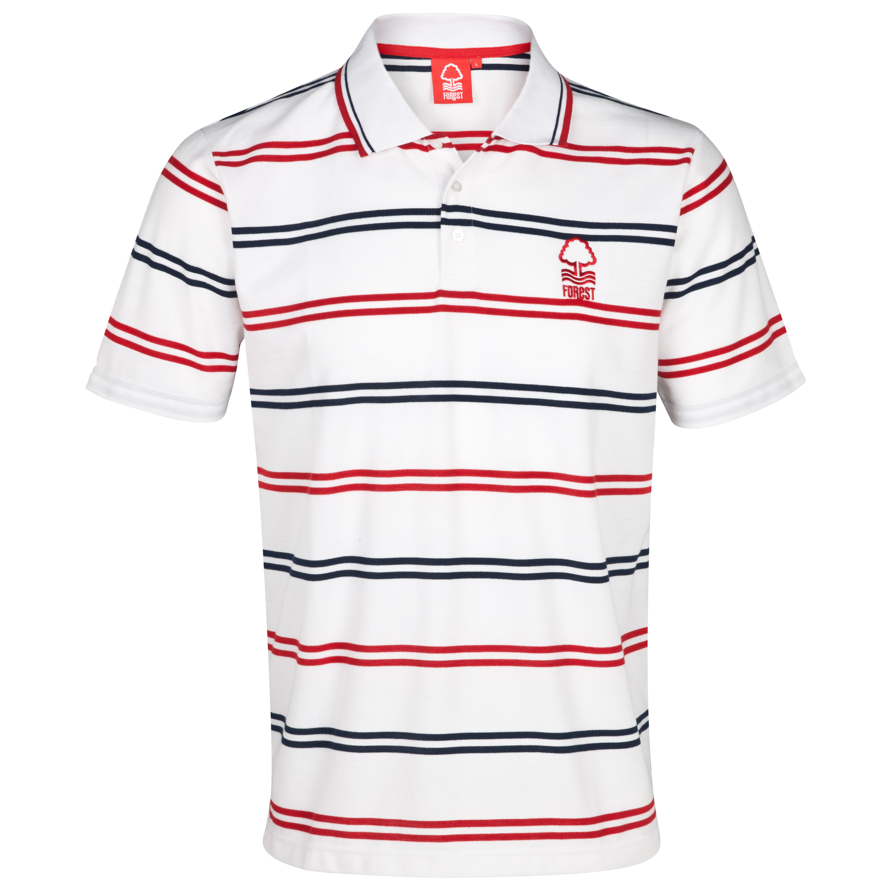 Nottingham Forest Essential Draw Polo Top - White/Red/Navy - Older Boys