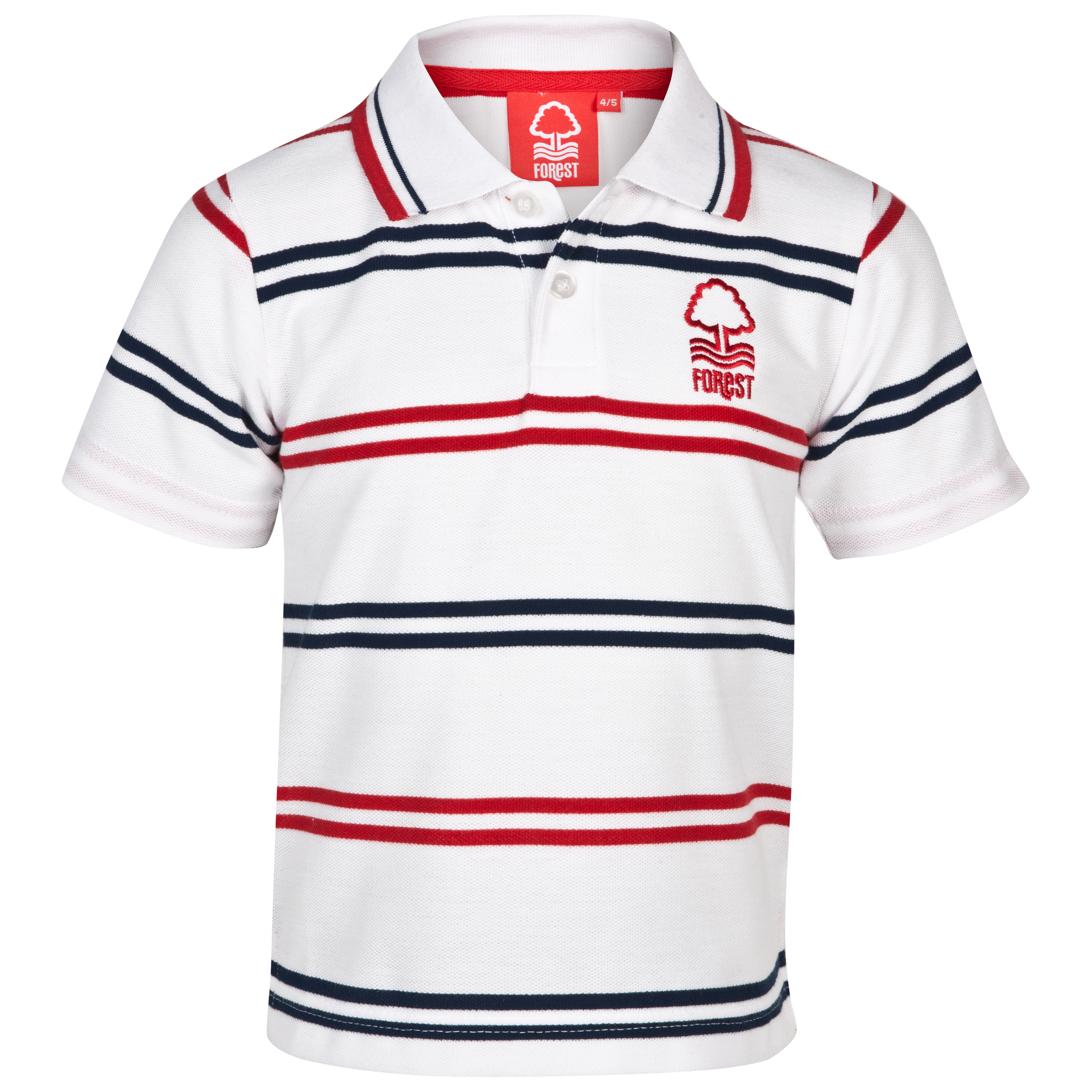 Nottingham Forest Essential Draw Polo Top - White/Red/Navy - Infant Boys