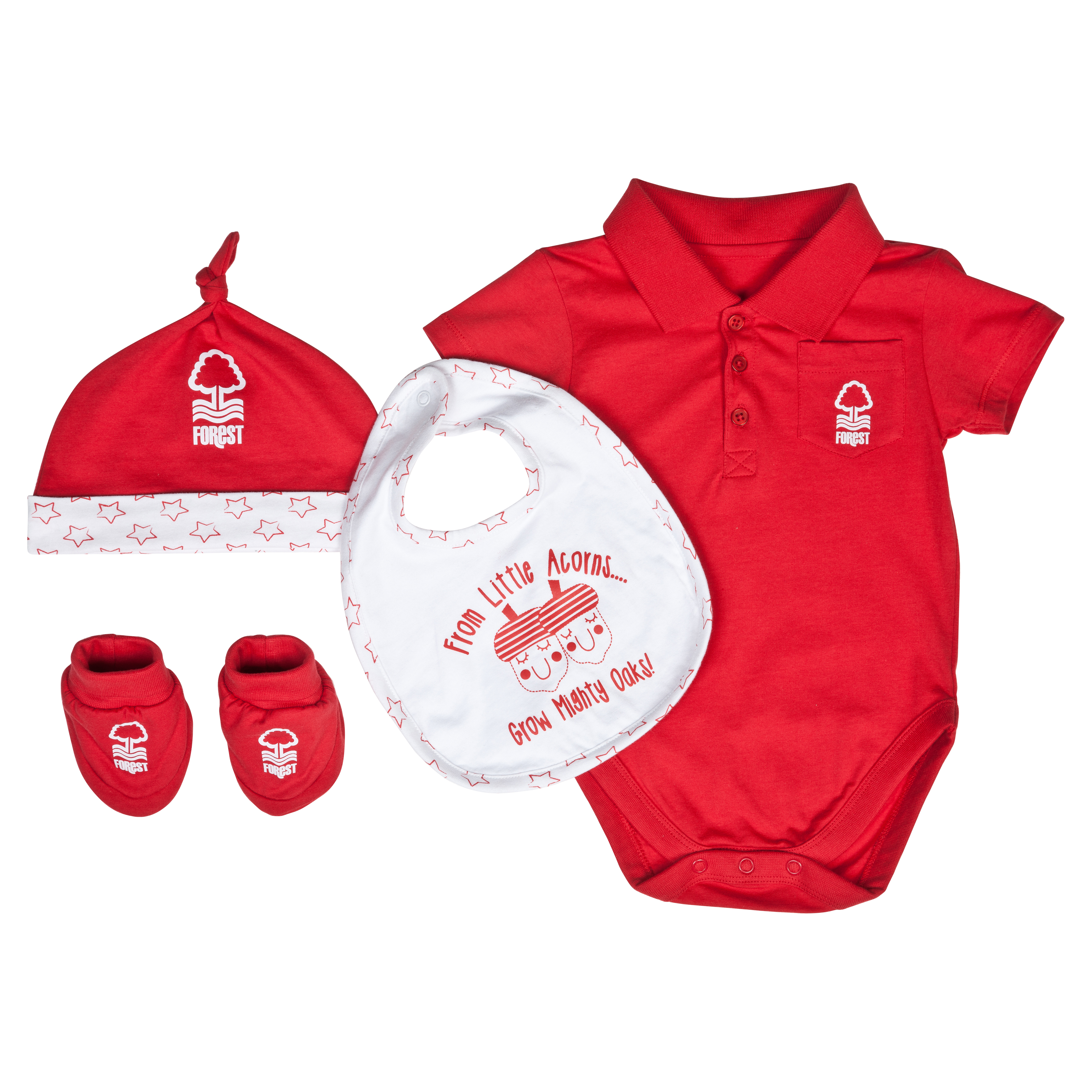 Nottingham Forest Acorns Gift Set - Red/White - Baby
